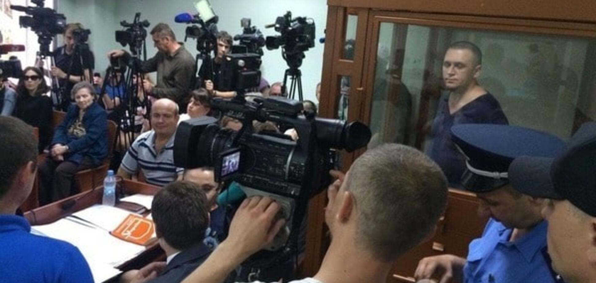 Олег Дмитренко в зале суда