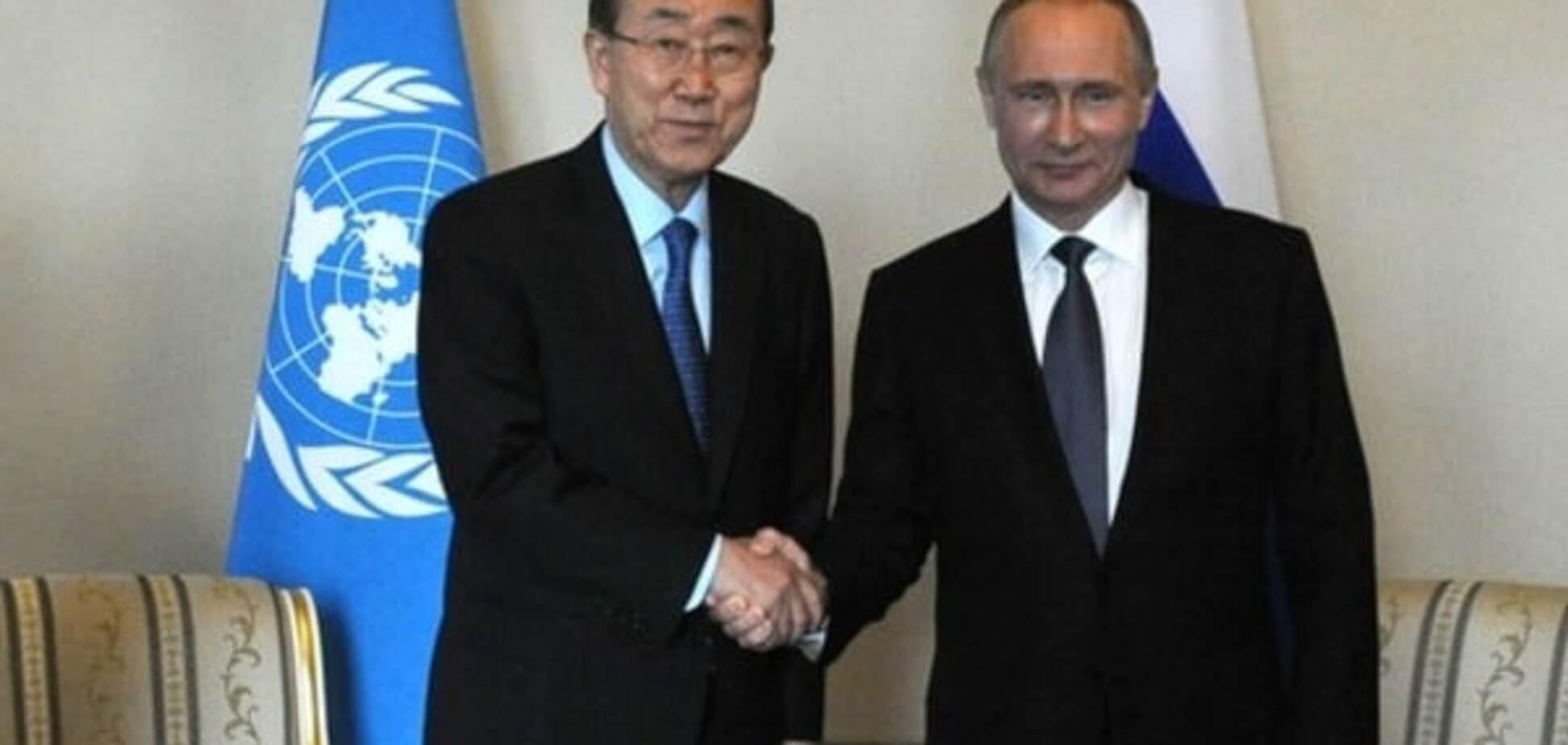 Владимир Путин, Пан Ги Мун