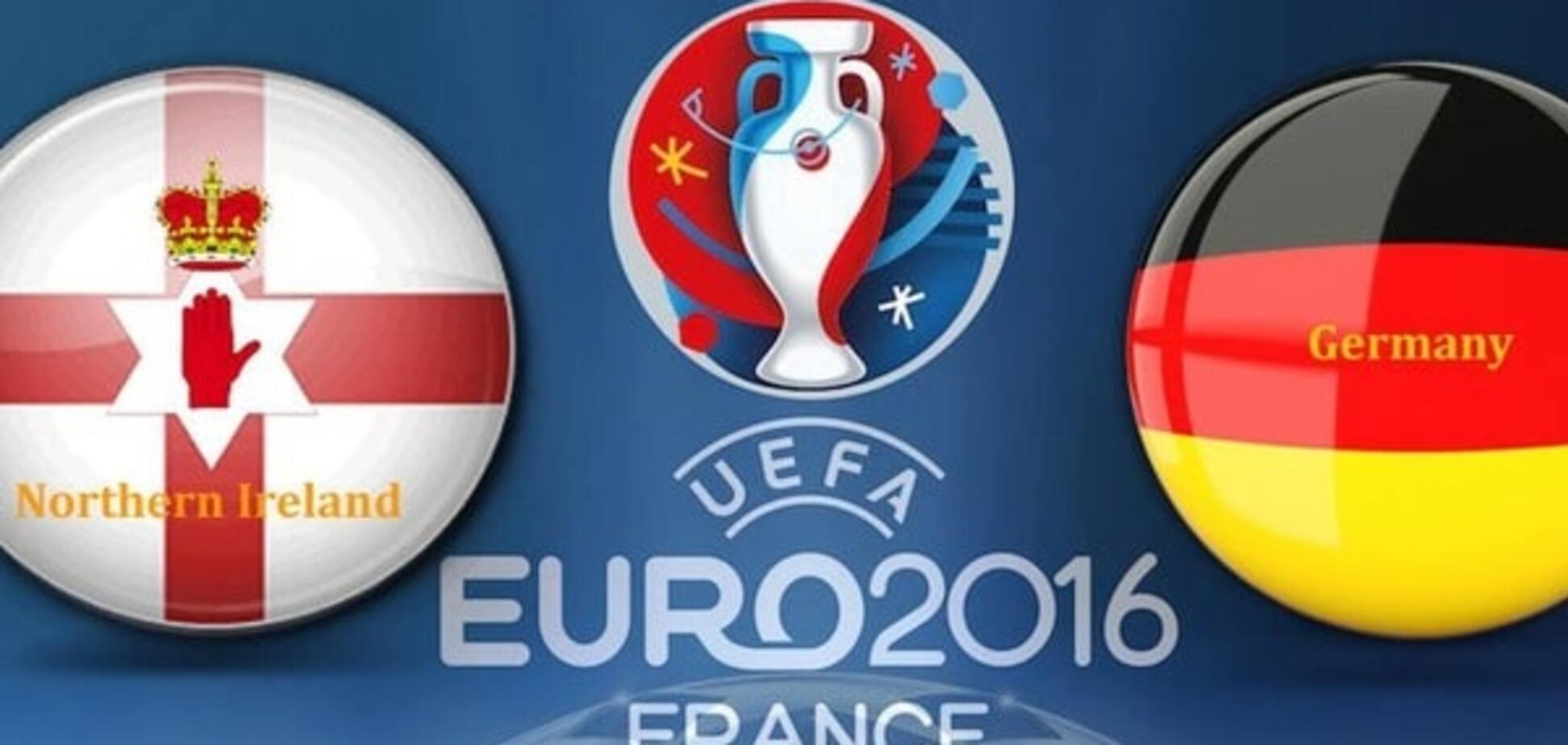 Северная Ирландия - Германия евро2016 онлайн