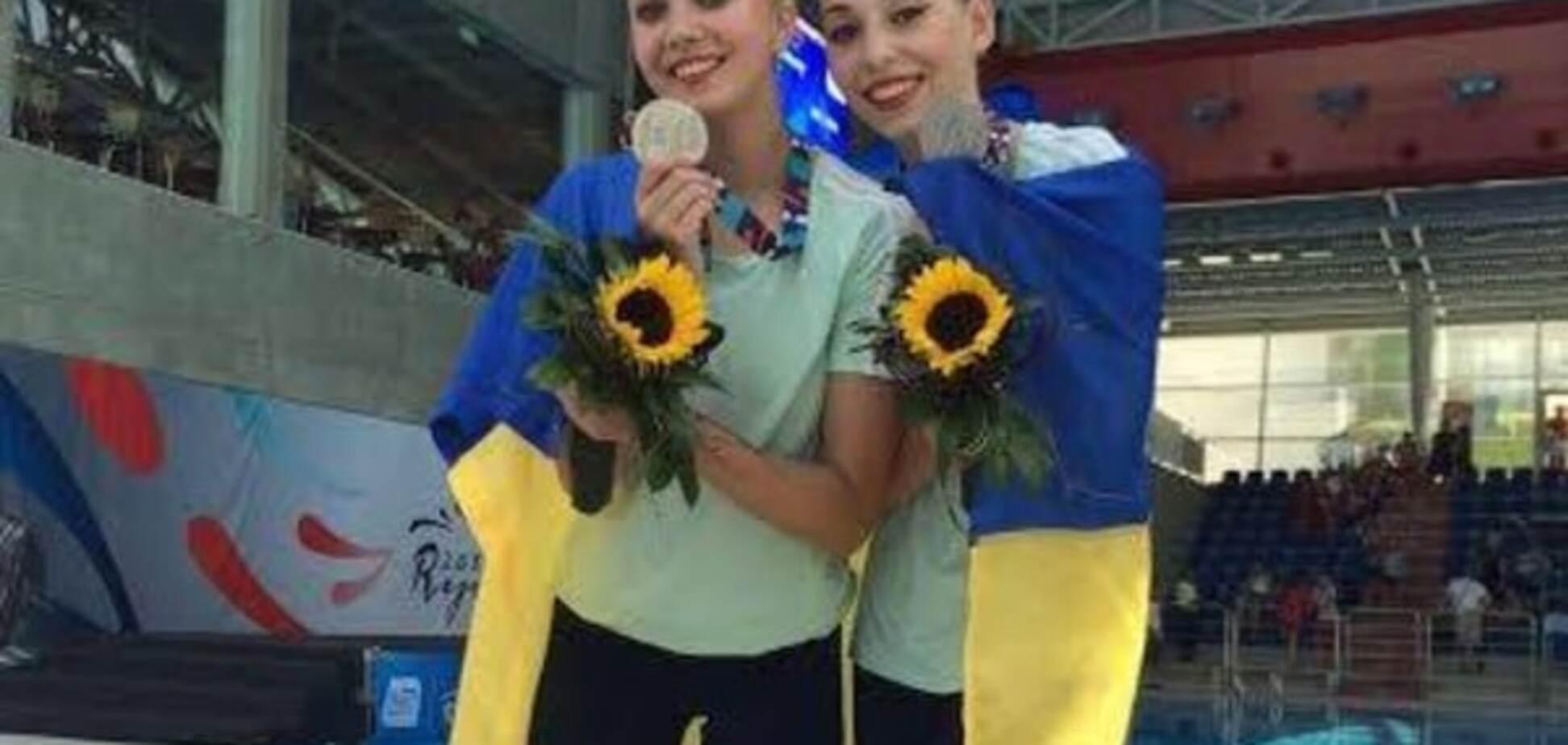 Юні українські синхроністки виграли 'срібло' чемпіонату Європи