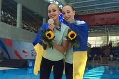 Юные украинские синхронистки выиграли 'серебро' чемпионата Европы