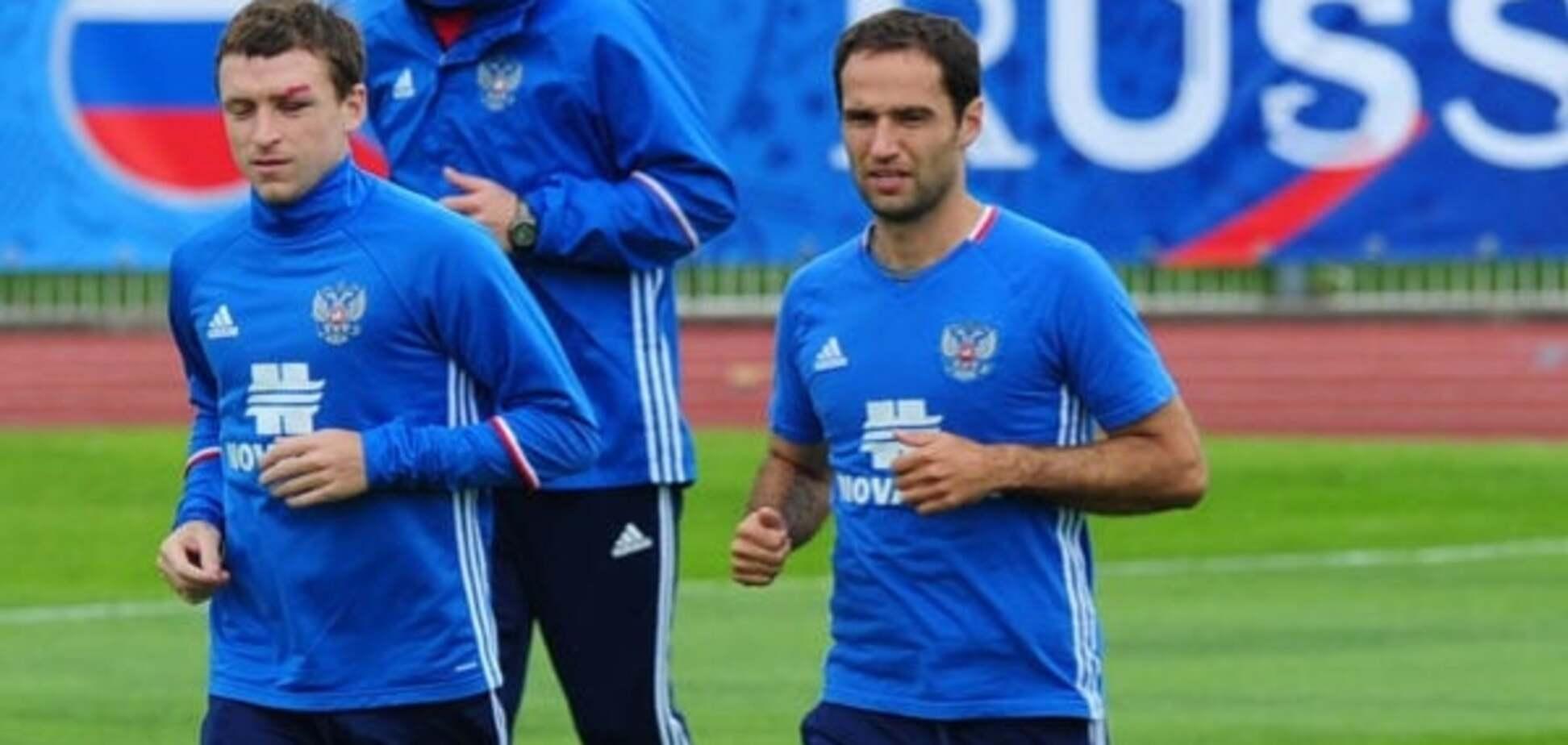 драка футболистов сборной России