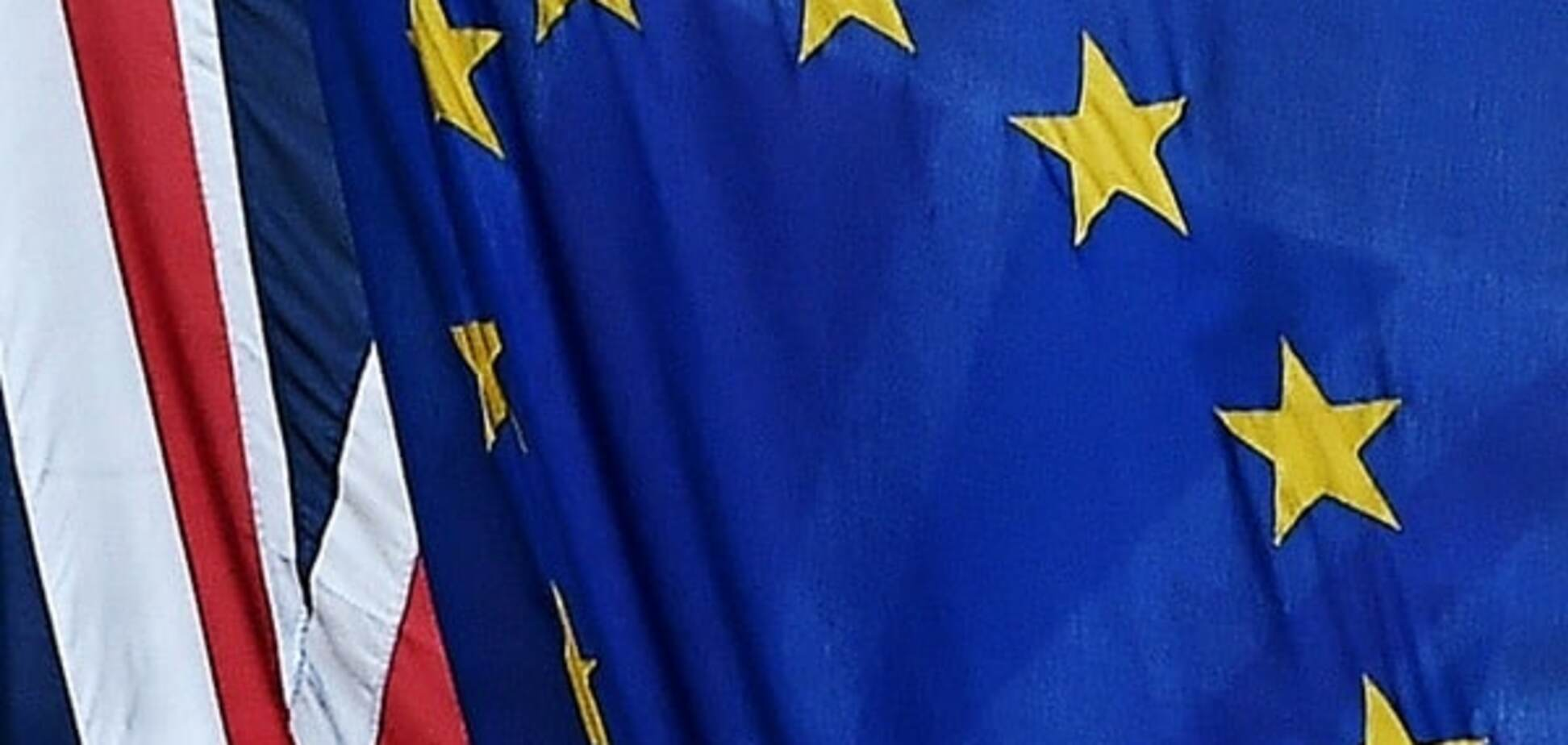 Прапори Великобританії і ЄС
