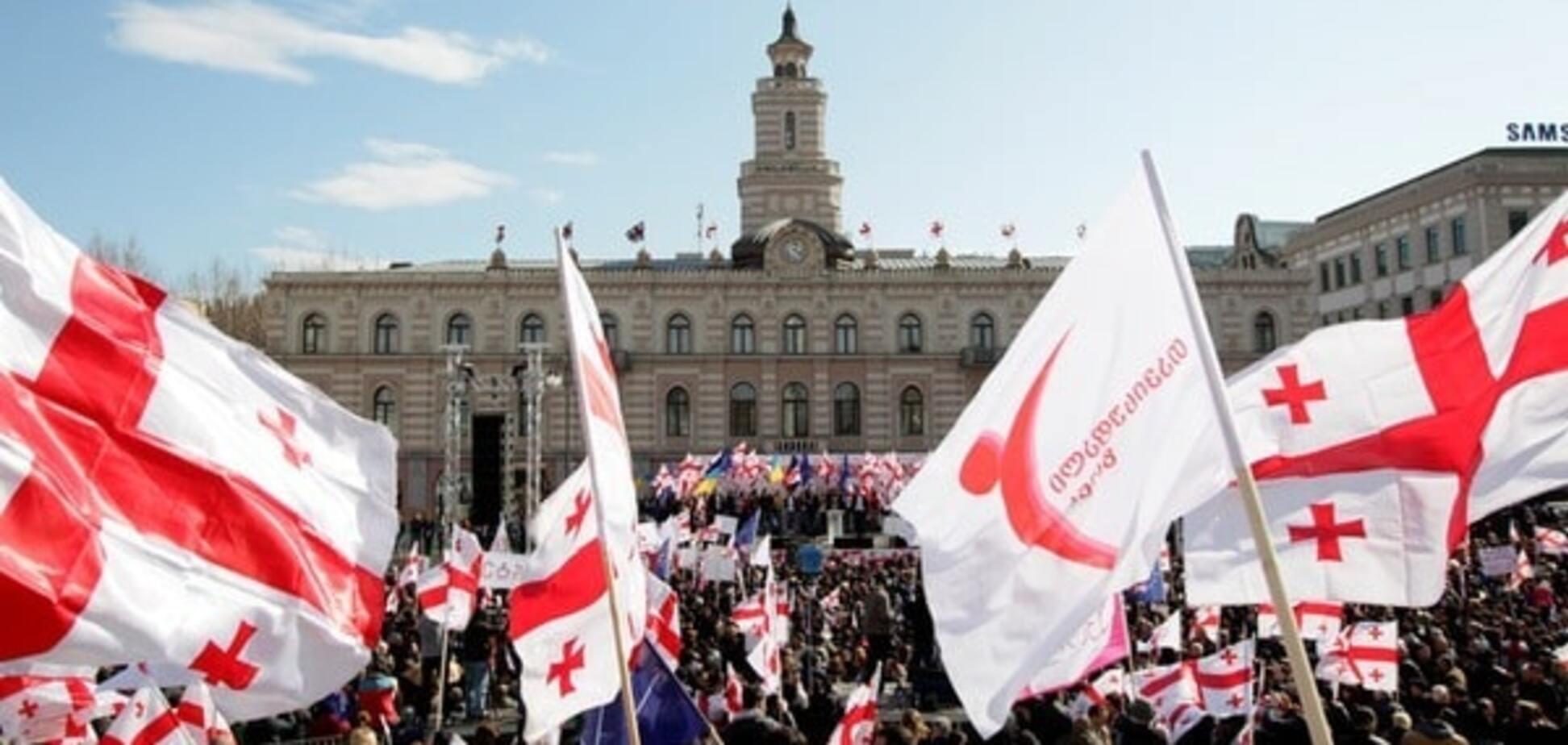 Акция \'Национального движения\' в Тбилиси