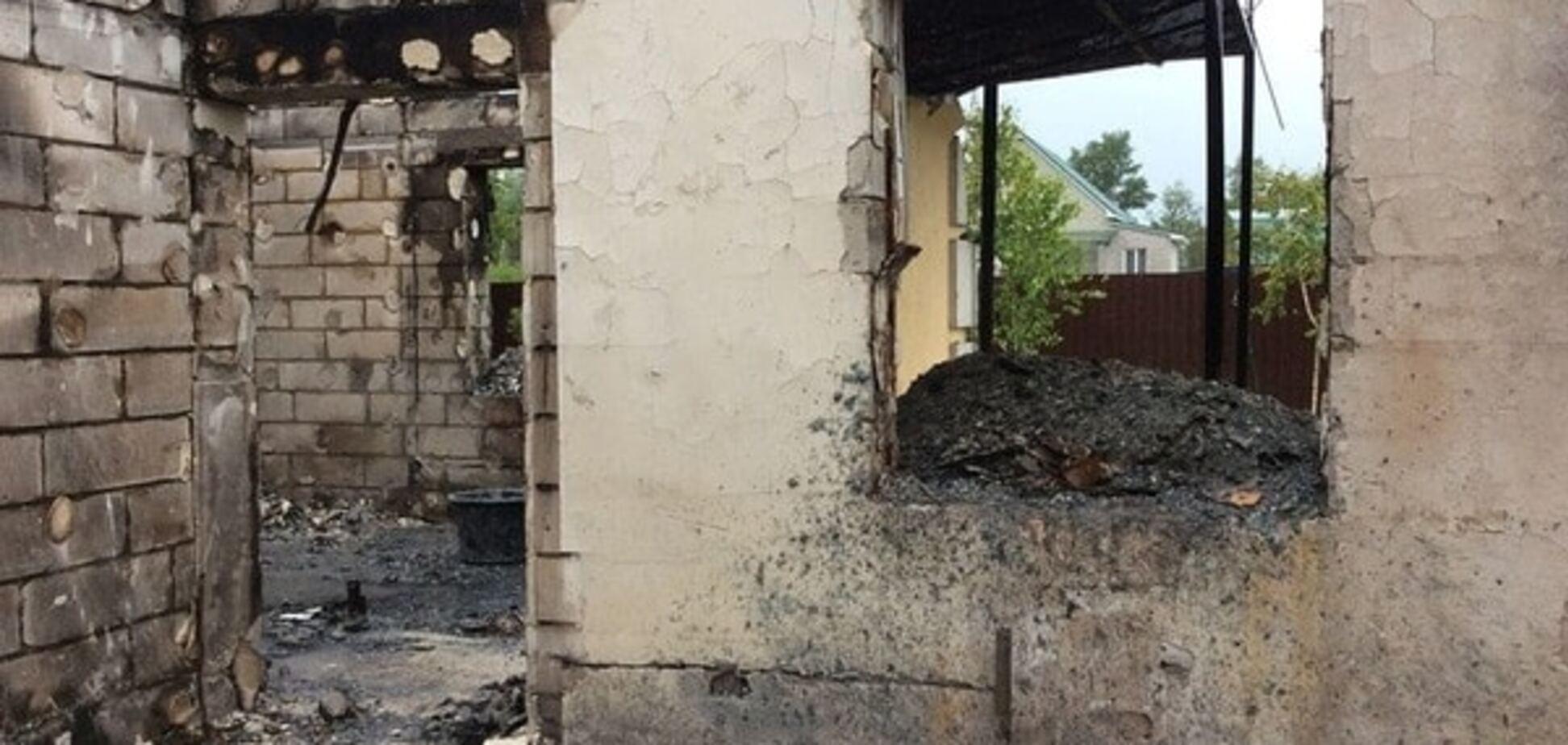 пожар в селе Леточки