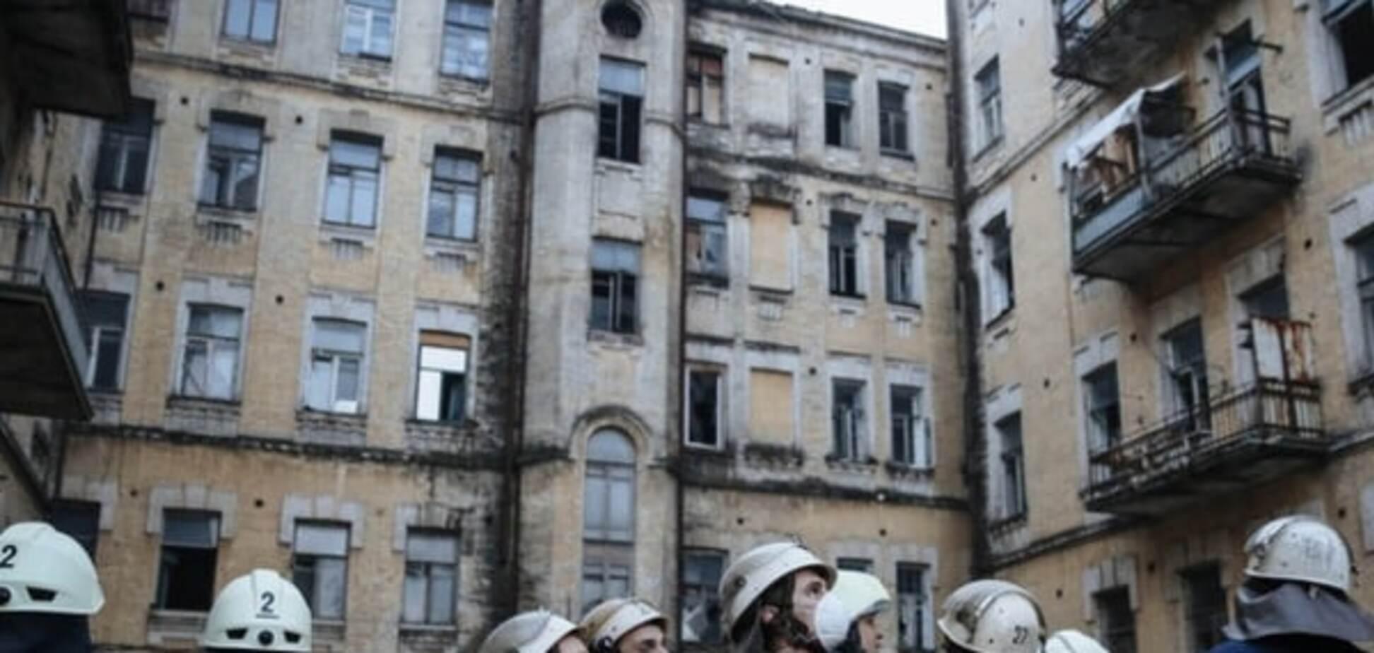 Разрушение дома на улице Хмельницкого