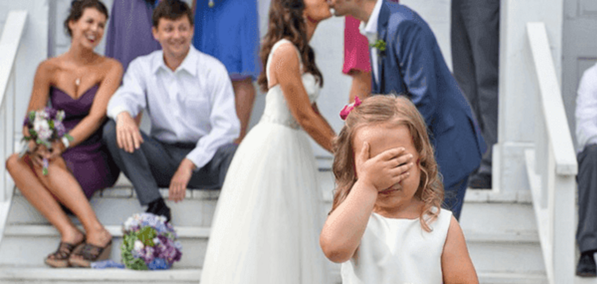 Дети участвуют в свадебной церемонии? Плохая идея (видео)
