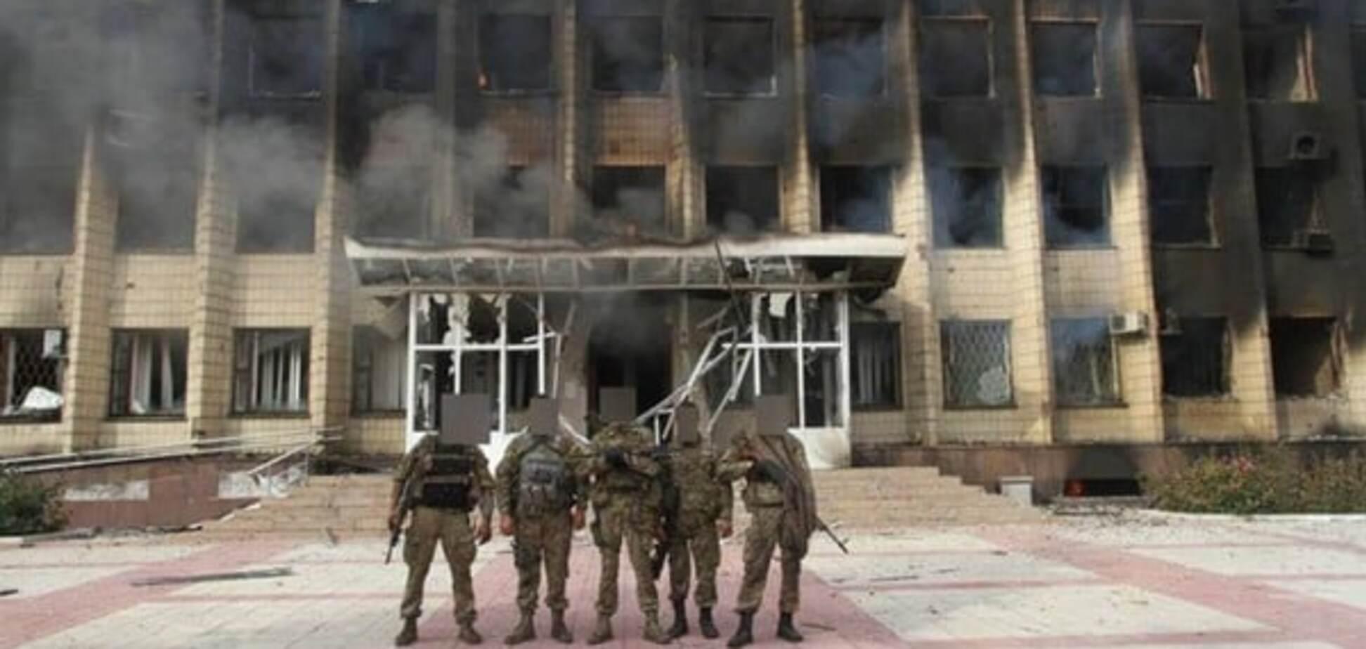 Бойцы военного спецназа в Торецке
