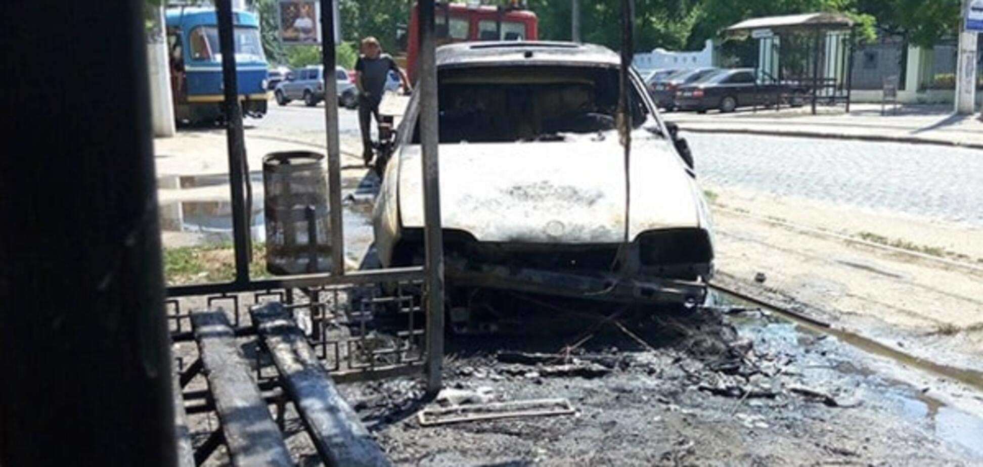 Пожар авто в Одессе