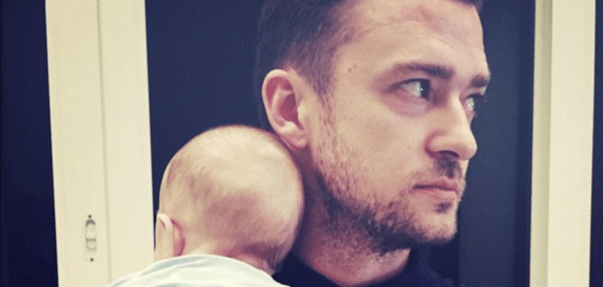 Джастин Тимберлейк с сыном