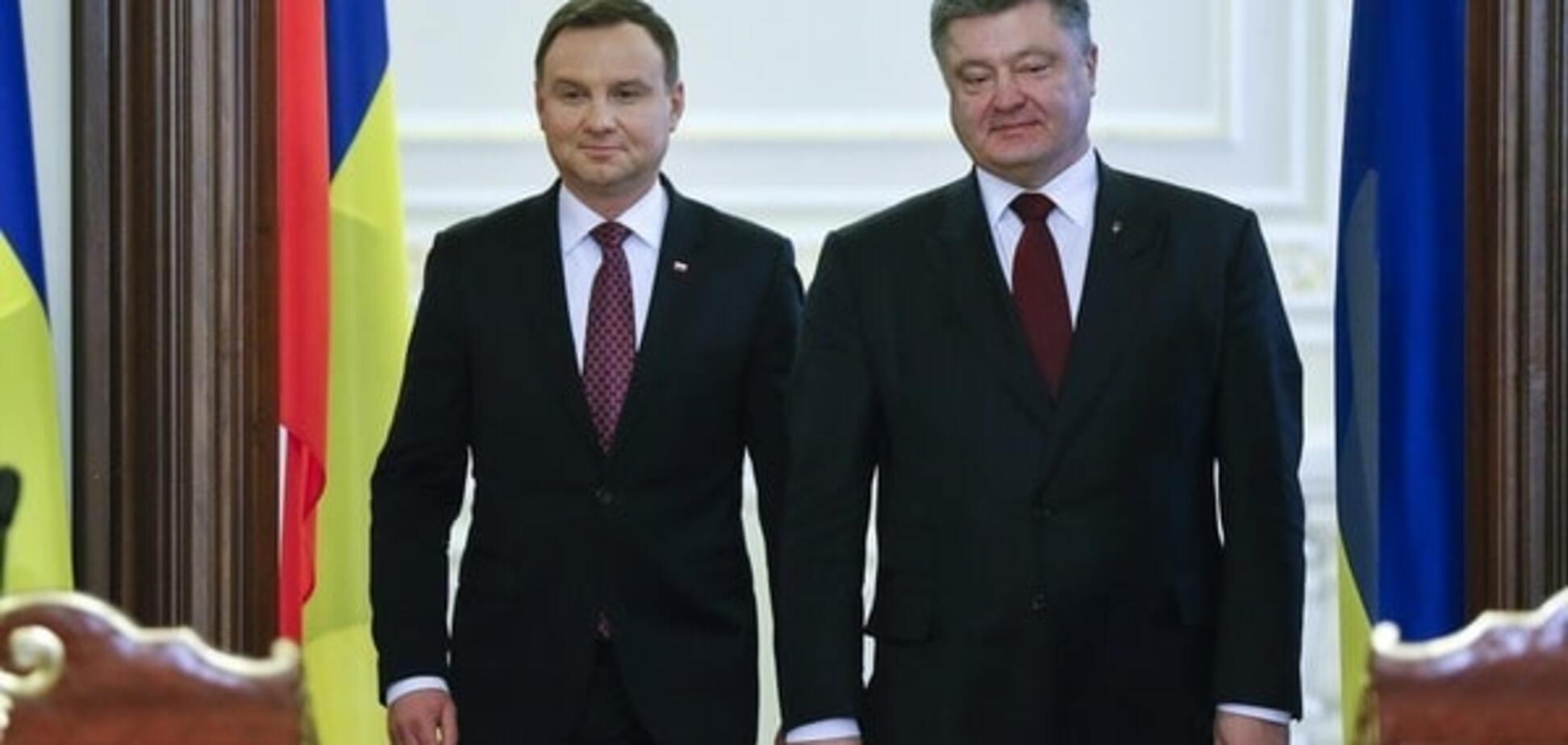Анджей Дуда, Петро Порошенко