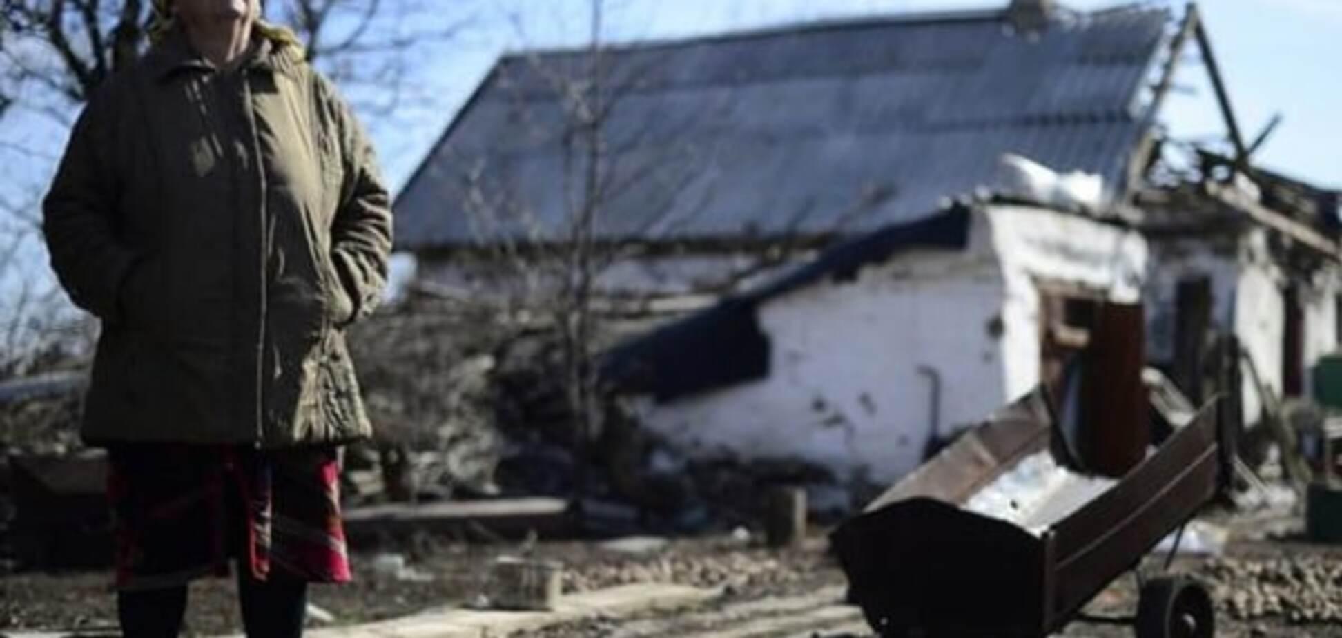 Разрушения на Донбассе