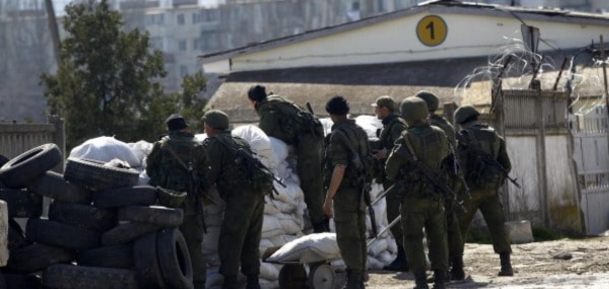Российские войска на админгранице с Крымом