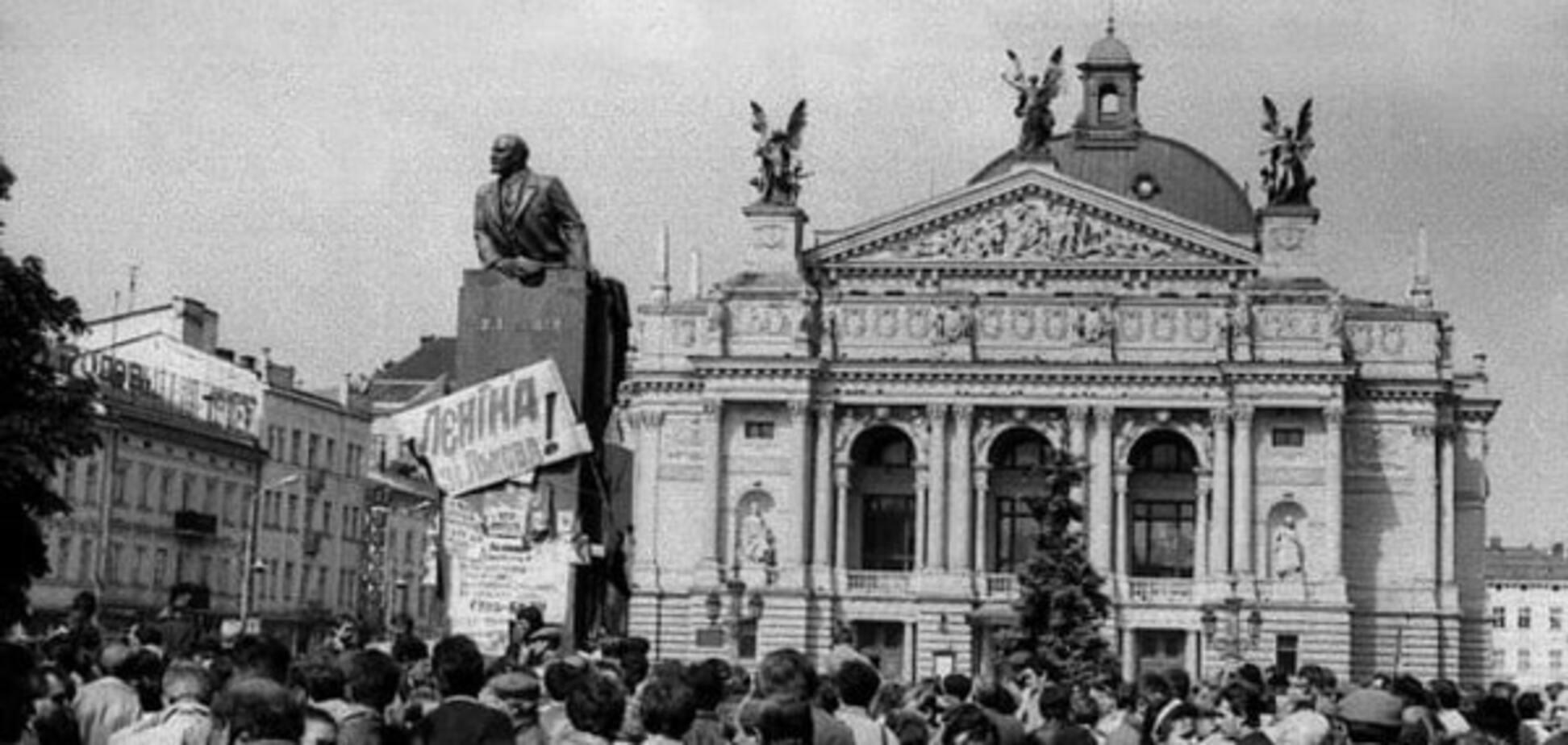 Мітинг у Львові в серпні 1991 року