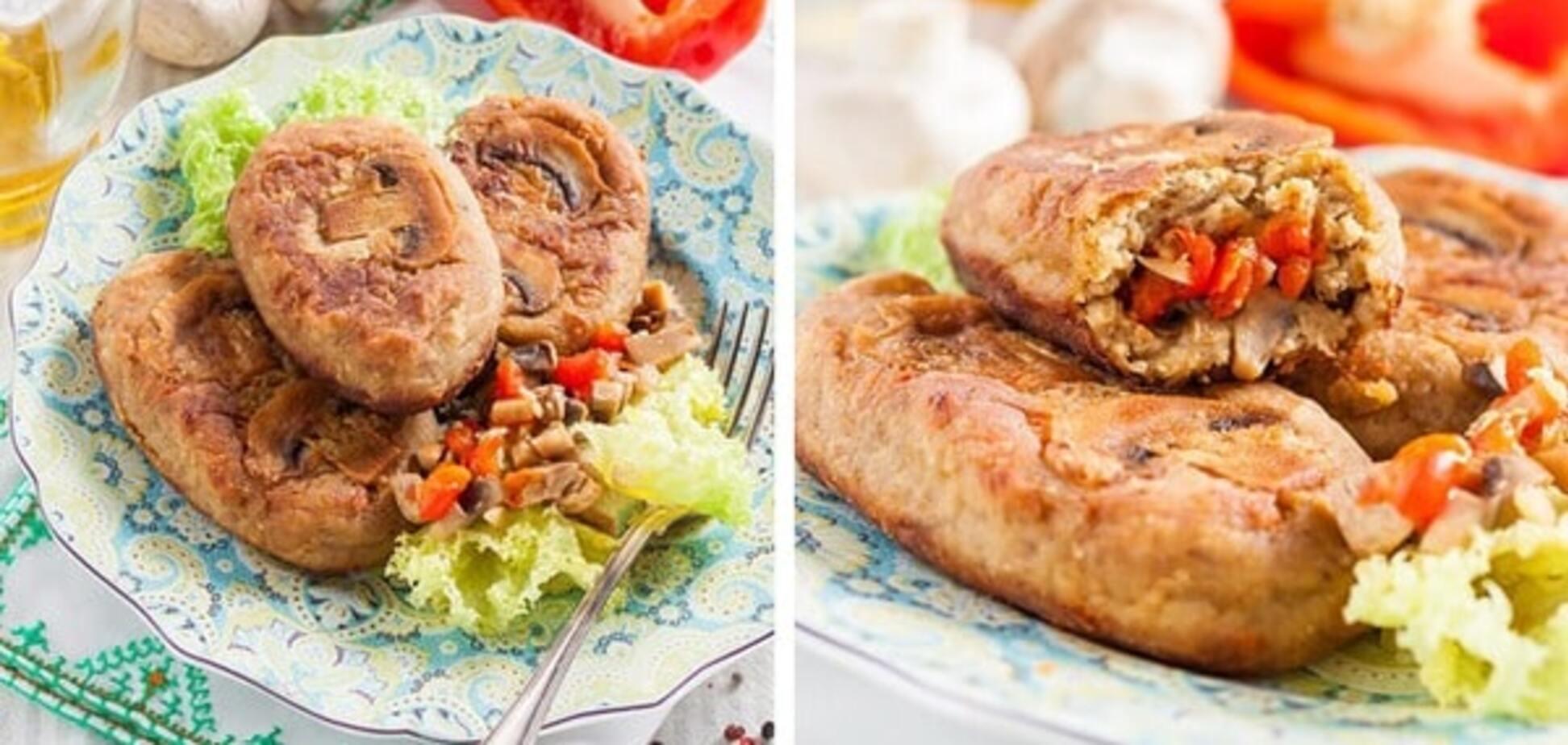 Рецепт котлет из баклажанов с шампиньонами и сладким перцем