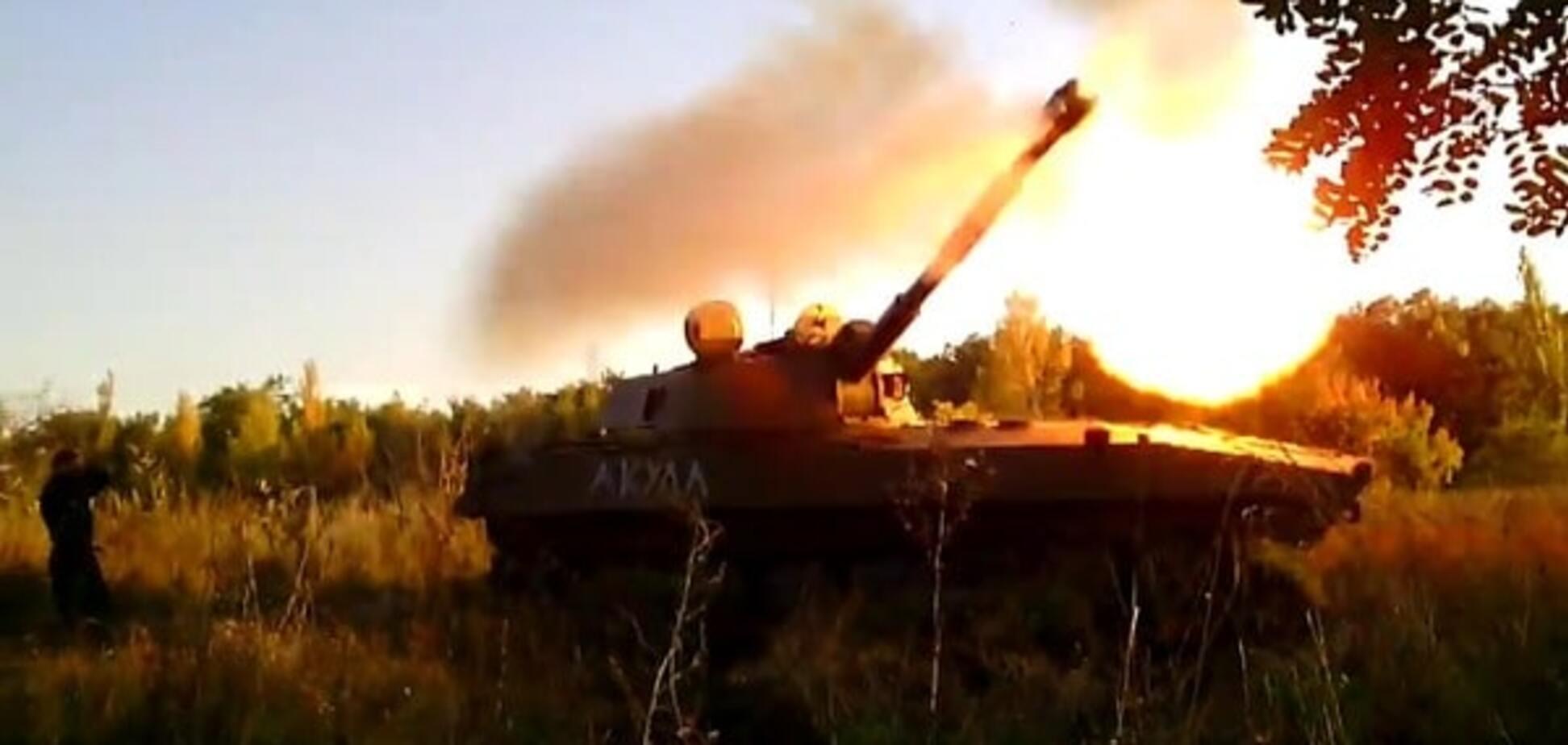 Артиллерия террористов в зоне АТО