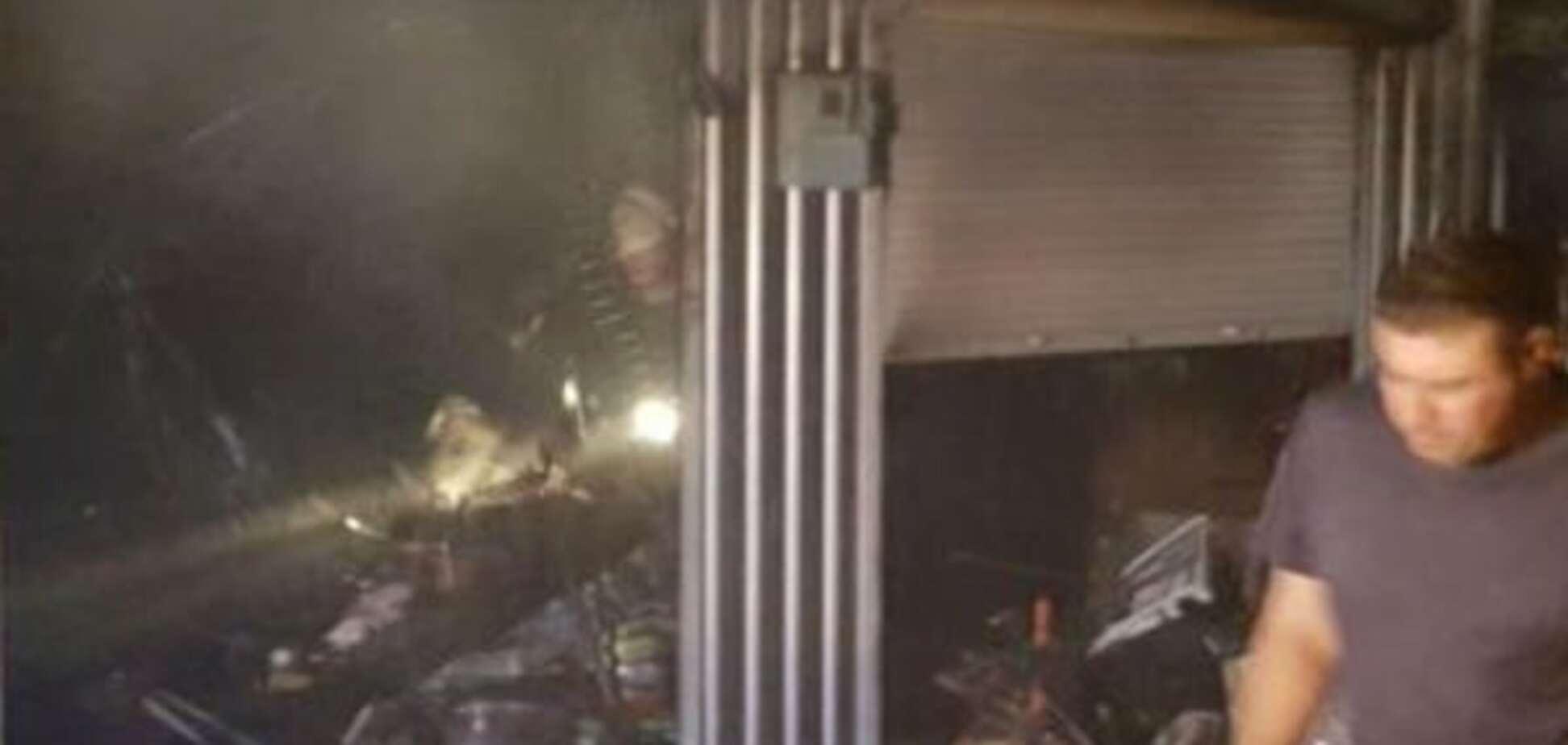 Пожар на Демеевском рынке