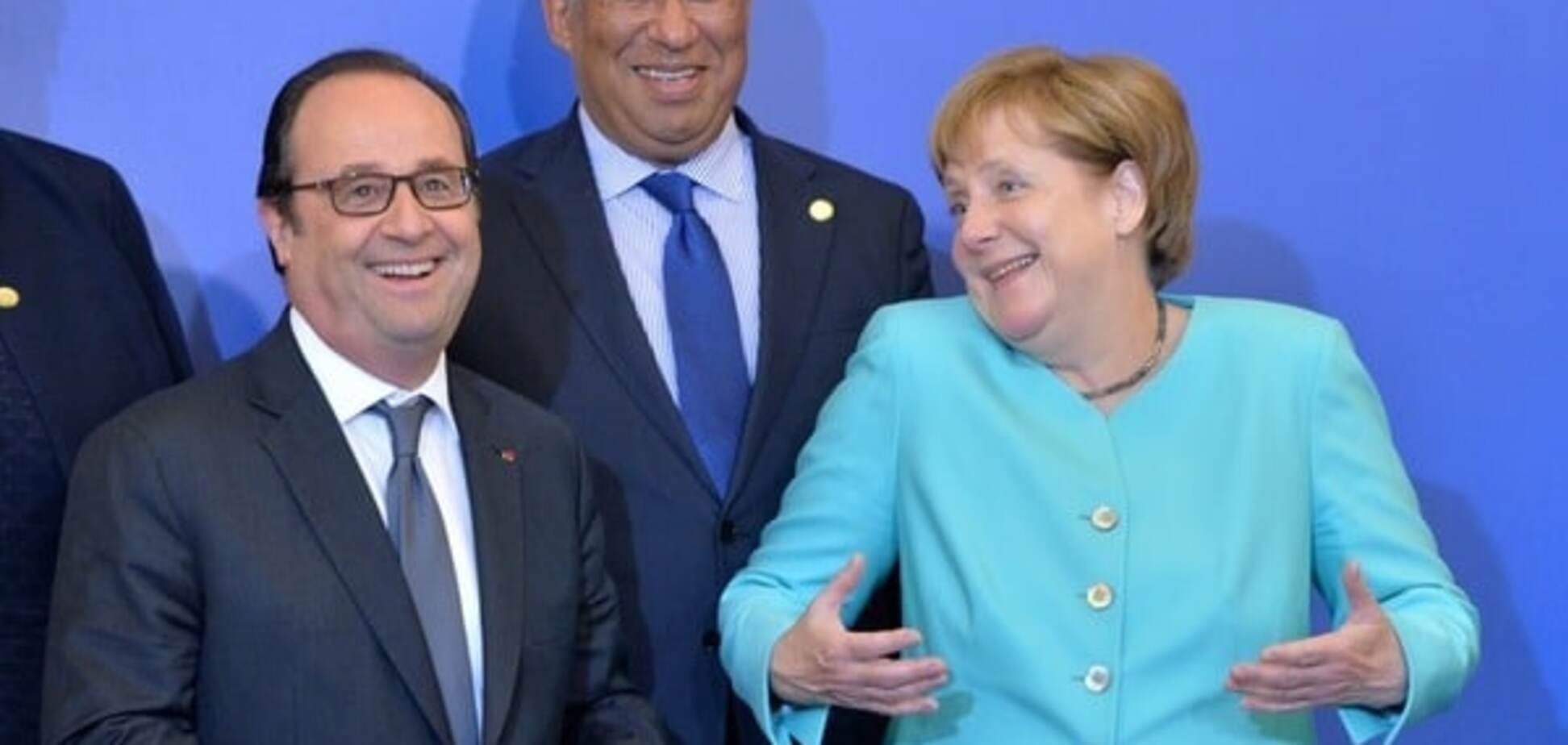 Франсуа Олланд, Ангела Меркель