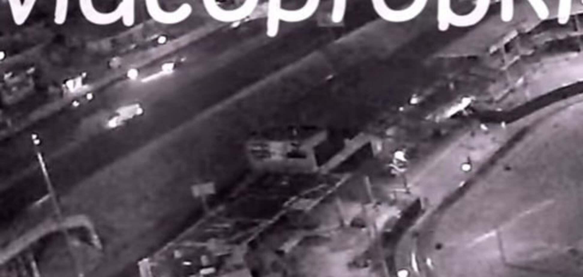 Смертельное ДТП в Киеве: появилось видео аварии с домушником