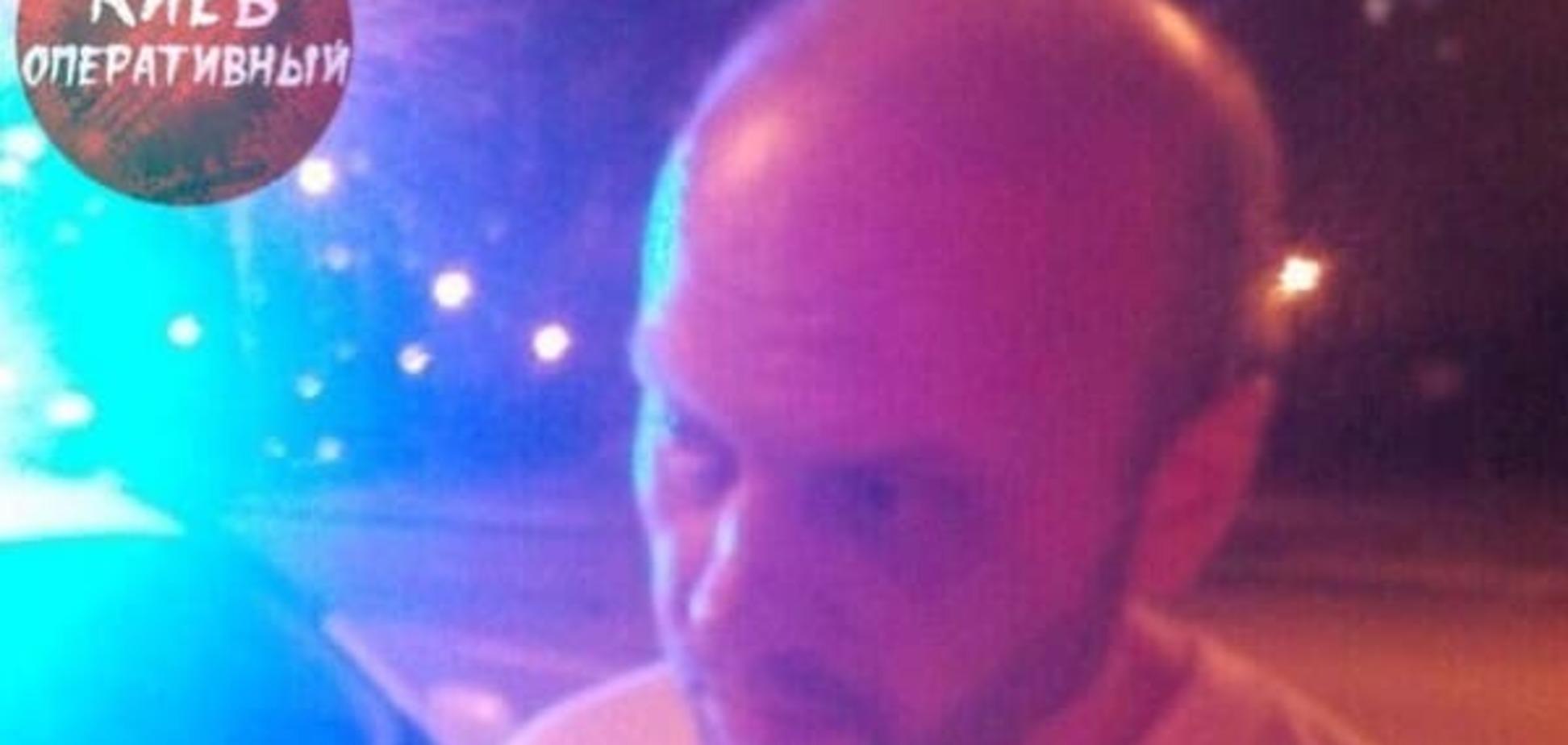 В Киеве пьяный водитель 'переехал дорогу' полицейскому