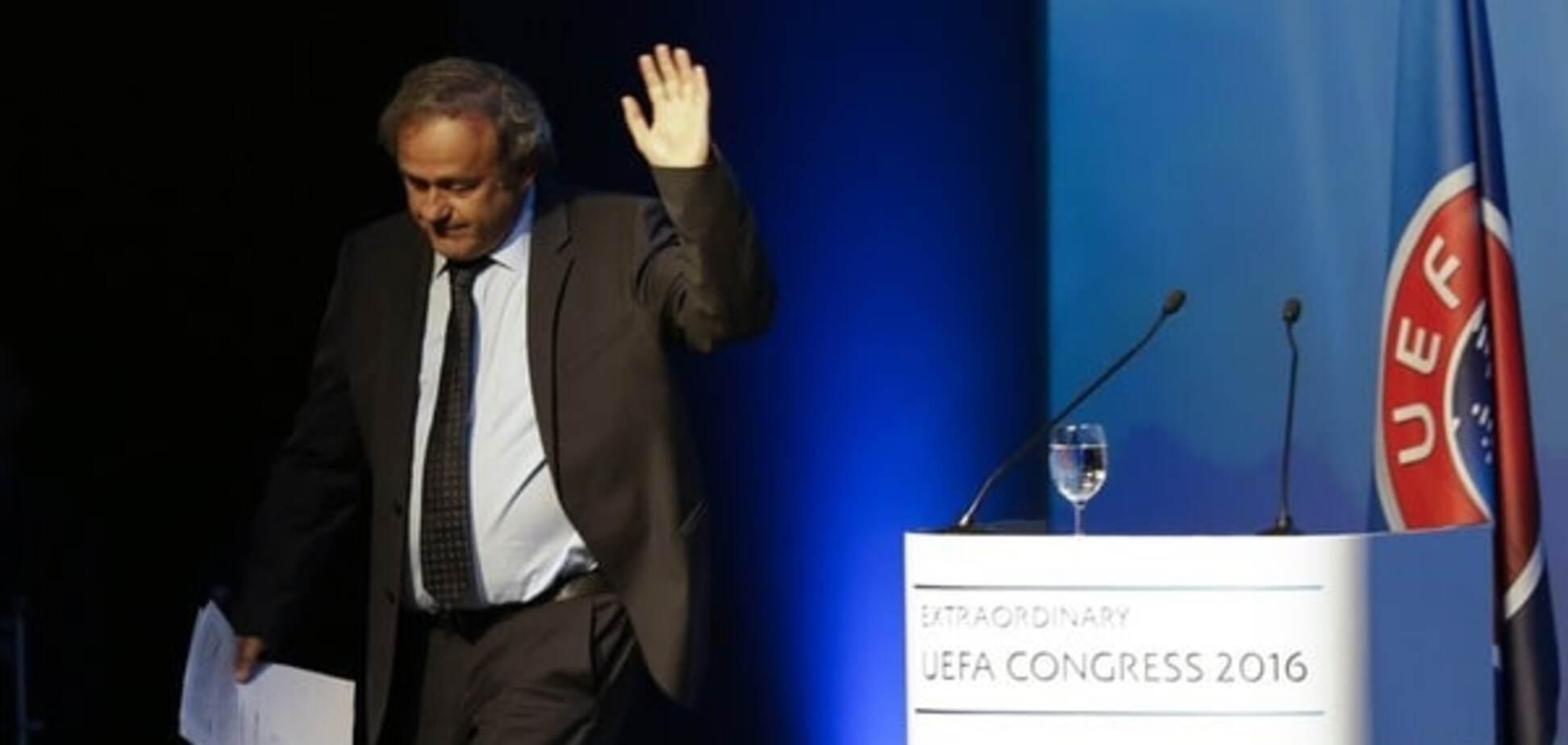 Платини покинул пост президента УЕФА