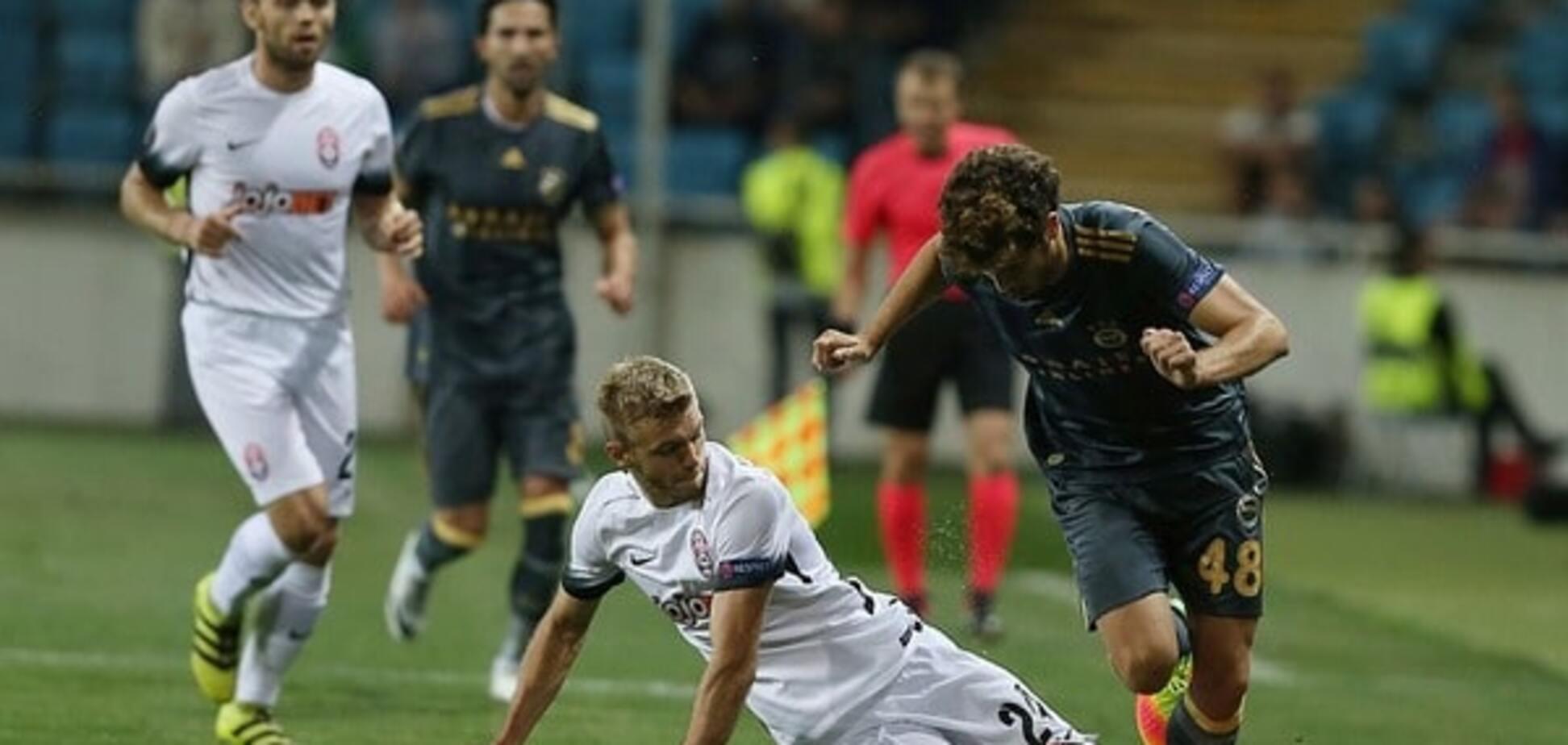 Луганская 'Заря' драматично сыграла вничью с 'Фенербахче' в Лиге Европы