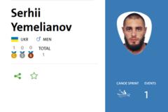 Український каноїст із рекордом виграв 'золото' Паралімпіади-2016
