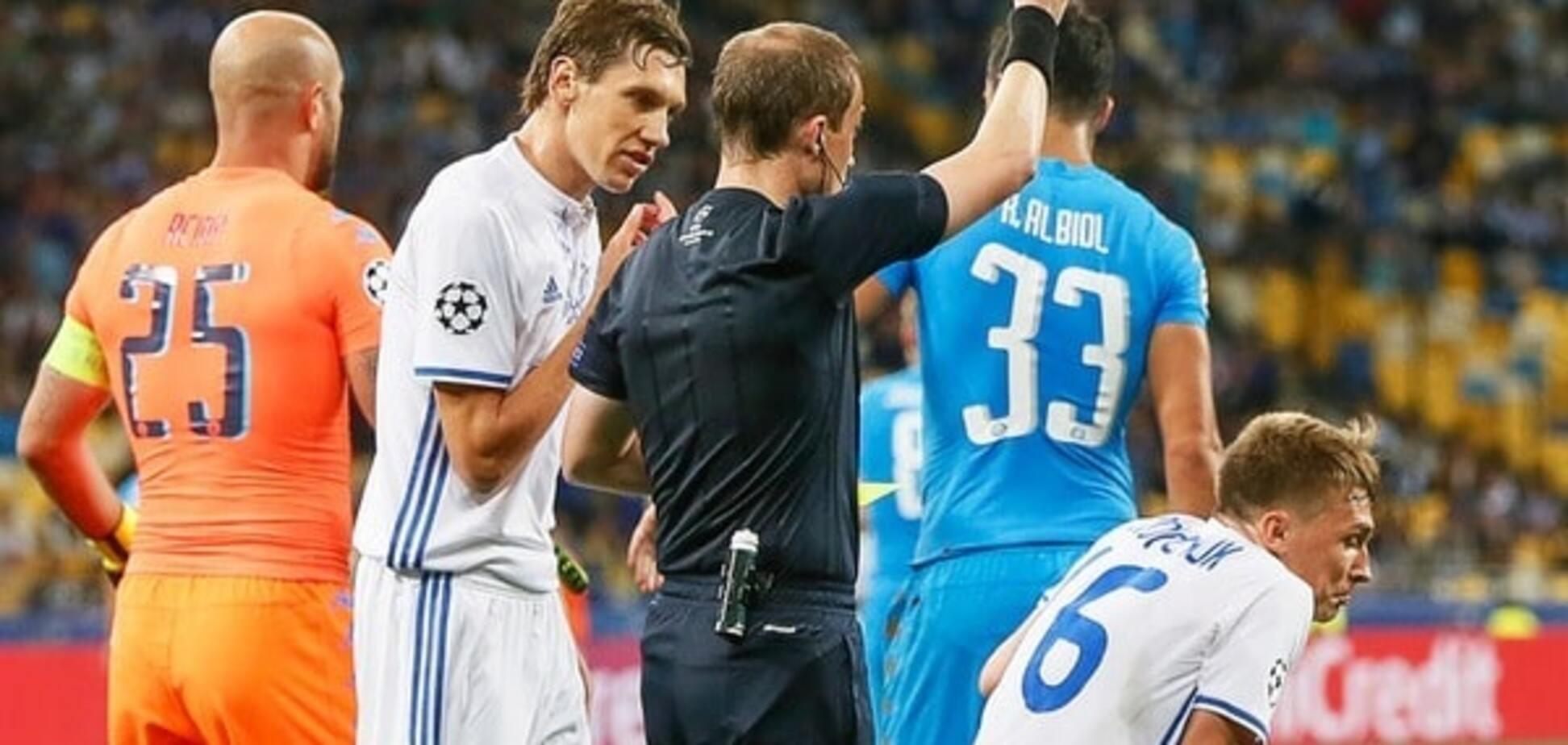 'Перебор': Реброва призвали наказать полузащитника 'Динамо'