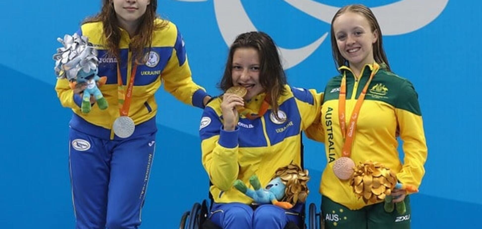 Украина с мировым рекордом добыла три 'золота' на Паралимпийском турнире по плаванию