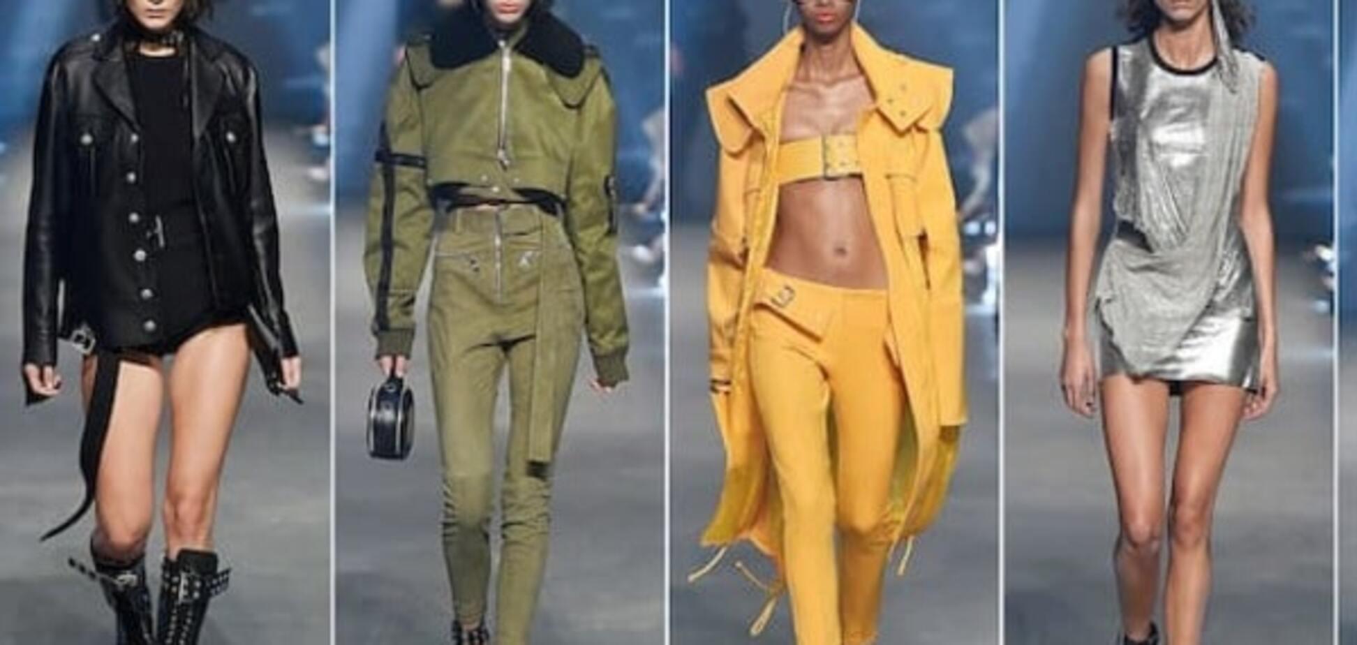 Белла Хадид в мини-шортах и косухе блистала на показе Versus Versace в Лондоне