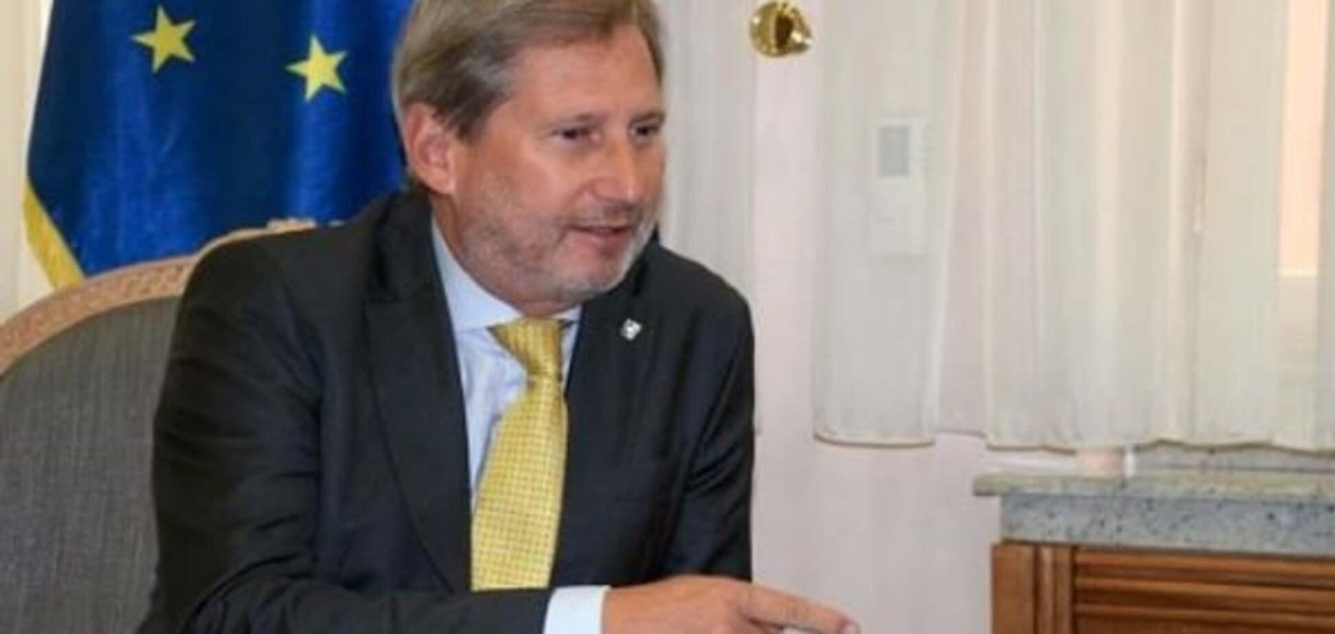 Еврокомиссар Хан определил сроки получения Украиной безвизового режима