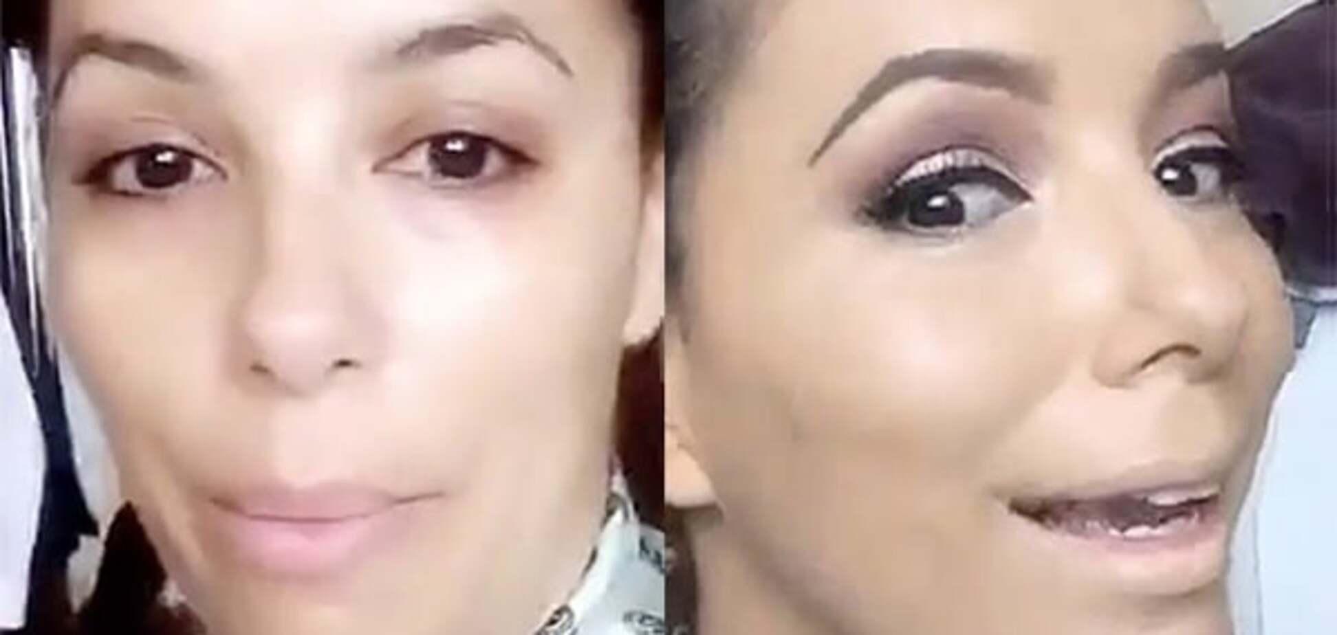 Ева Лонгория показала, как наносит макияж: преображение актрисы