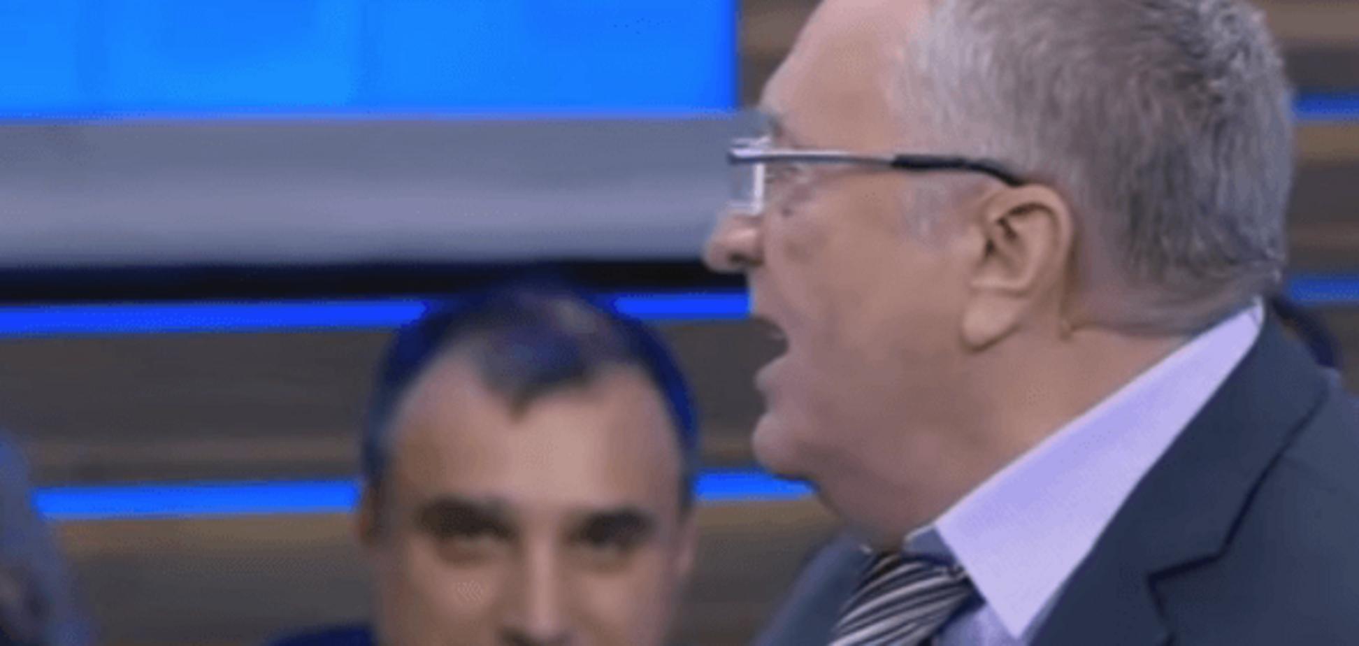 На подтанцовке у клоуна: сбежавший луганский сепаратист Клинчаев 'всплыл' на эфире Жириновского. Видеофакт