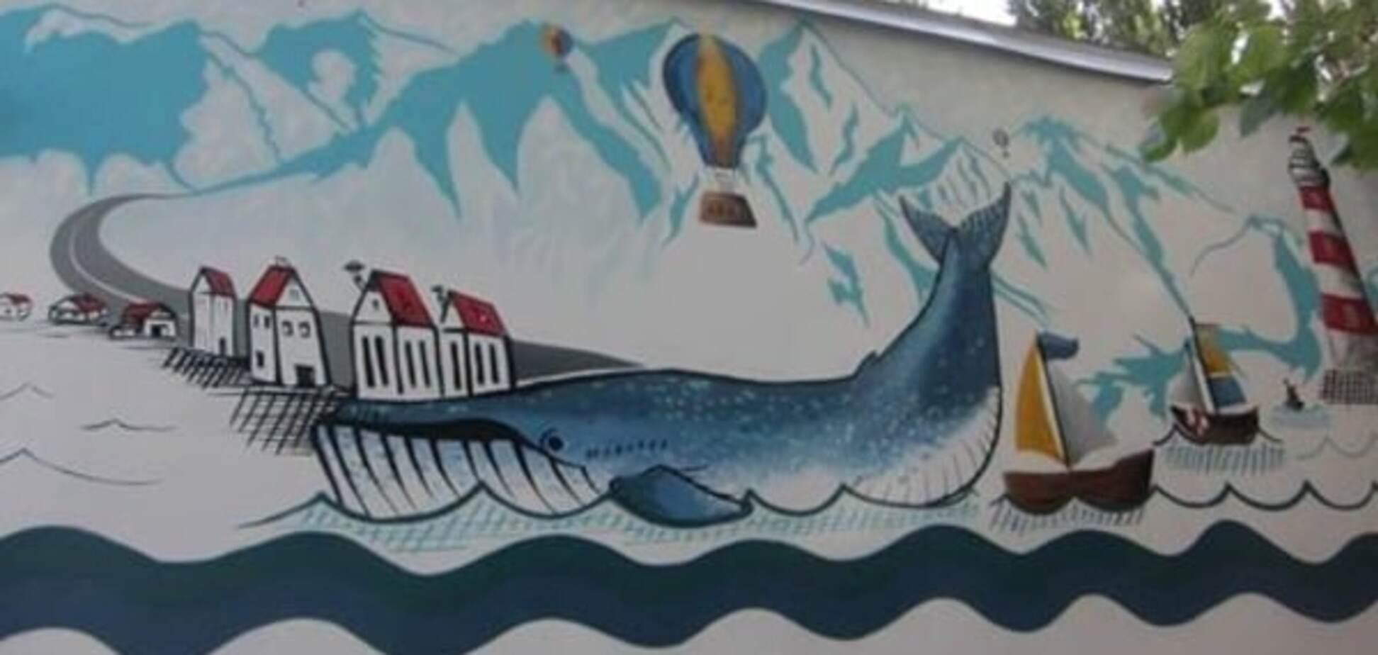 У Києві з'явився мурал із величезним китом