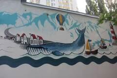 В Киеве появился мурал с огромным китом: опубликованы фото