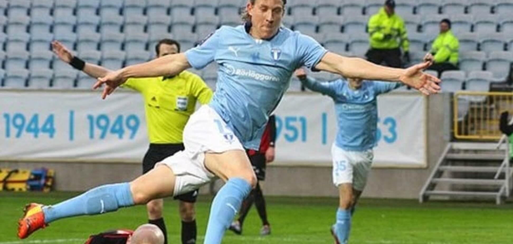 Шведский футболист забил роскошным ударом пяткой: видео эффектного гола