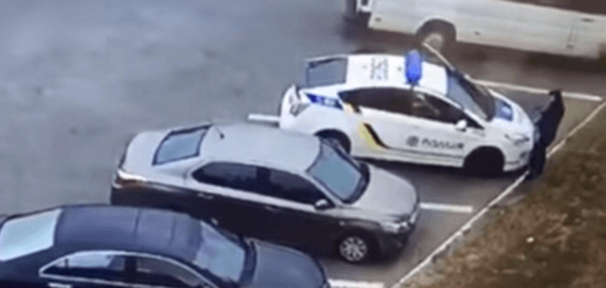 Видео с полицейскими во время трагедии