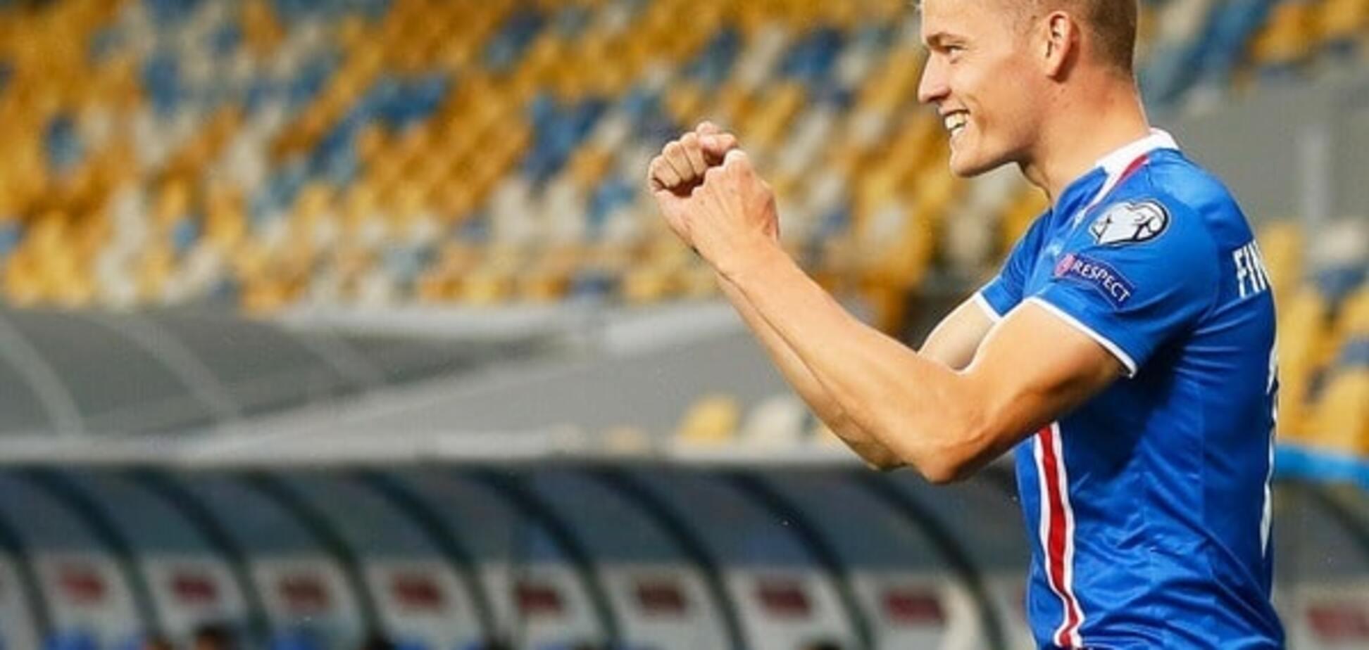 Исландский футболист забил нелепый гол сборной Украины в отборе ЧМ-2018: курьезное видео