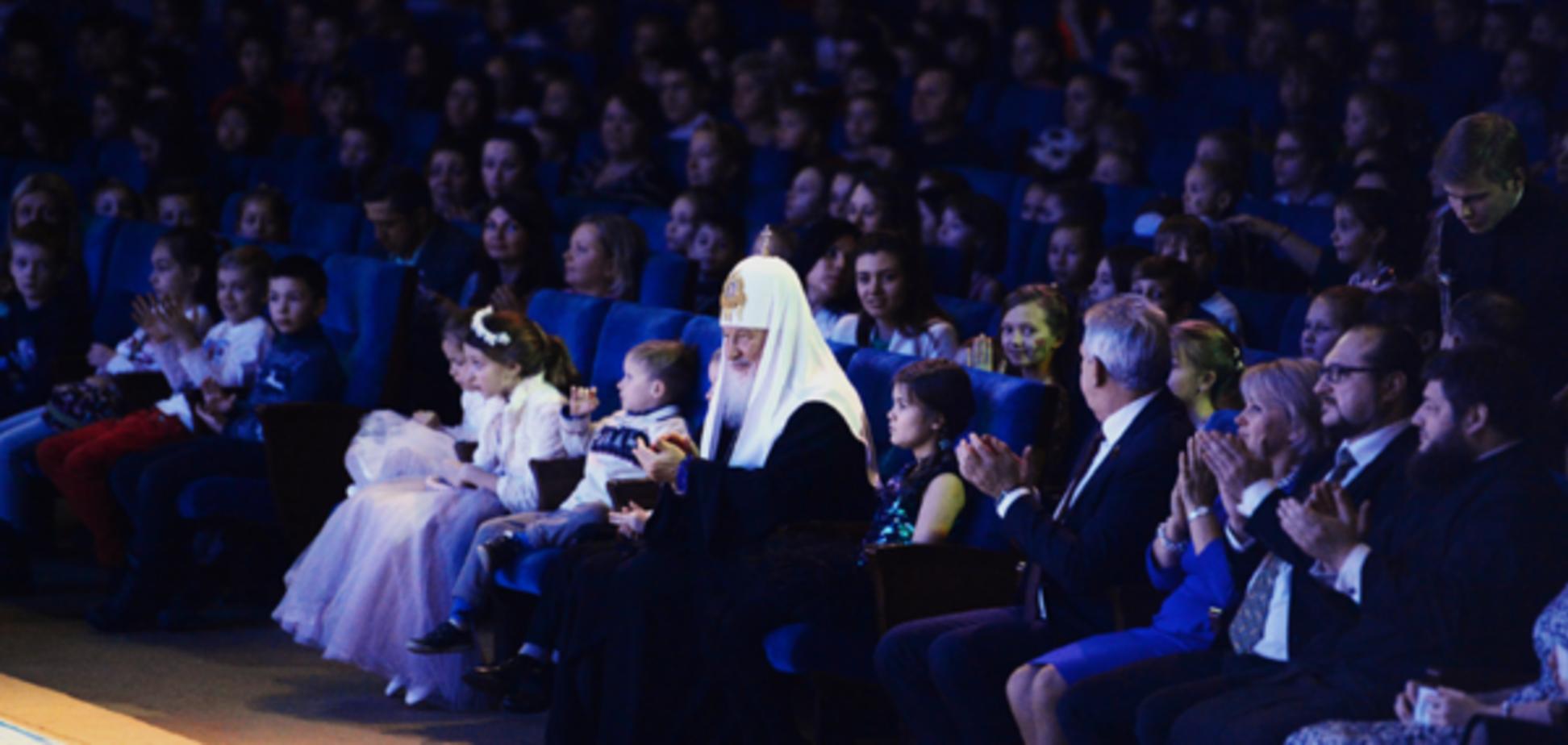 Патриарх Кирилл на празднике Рождественской елки в Кремле