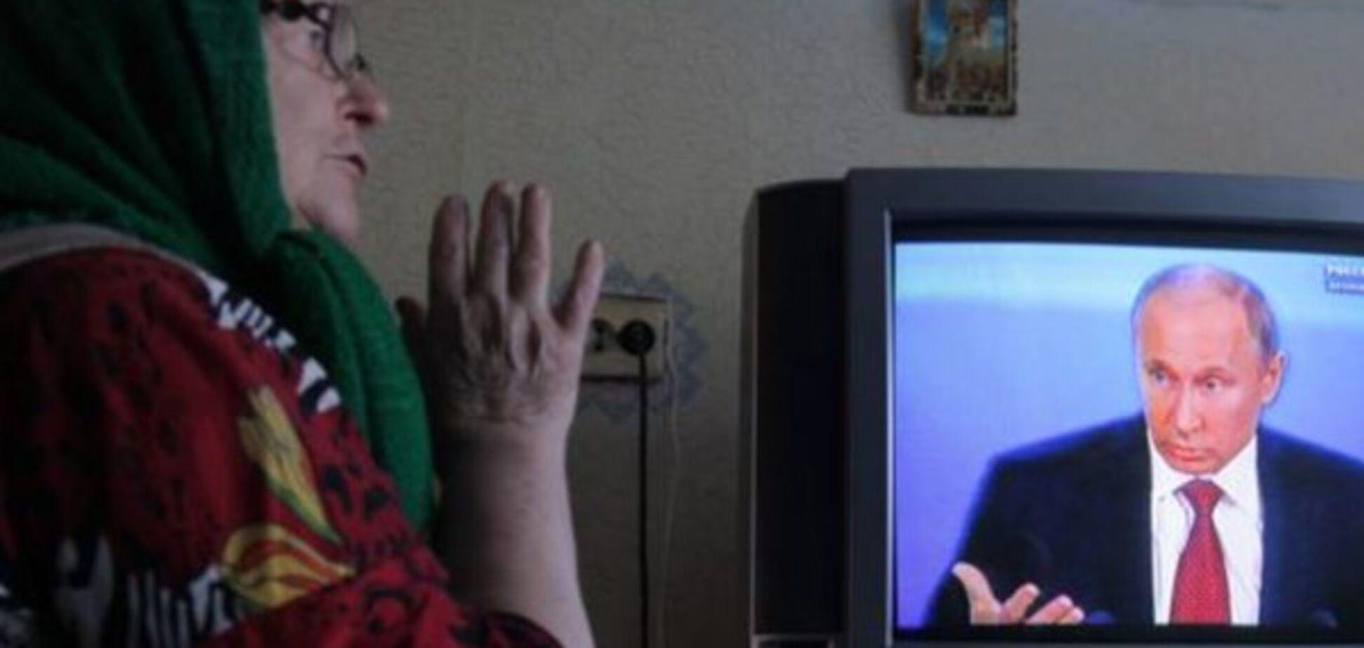 Путін в телевізорі