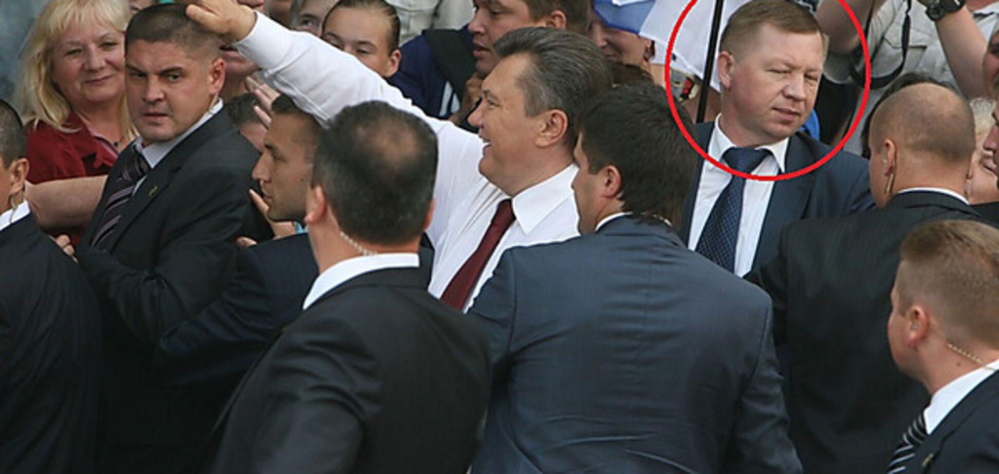 Янукович в оточенні охорони