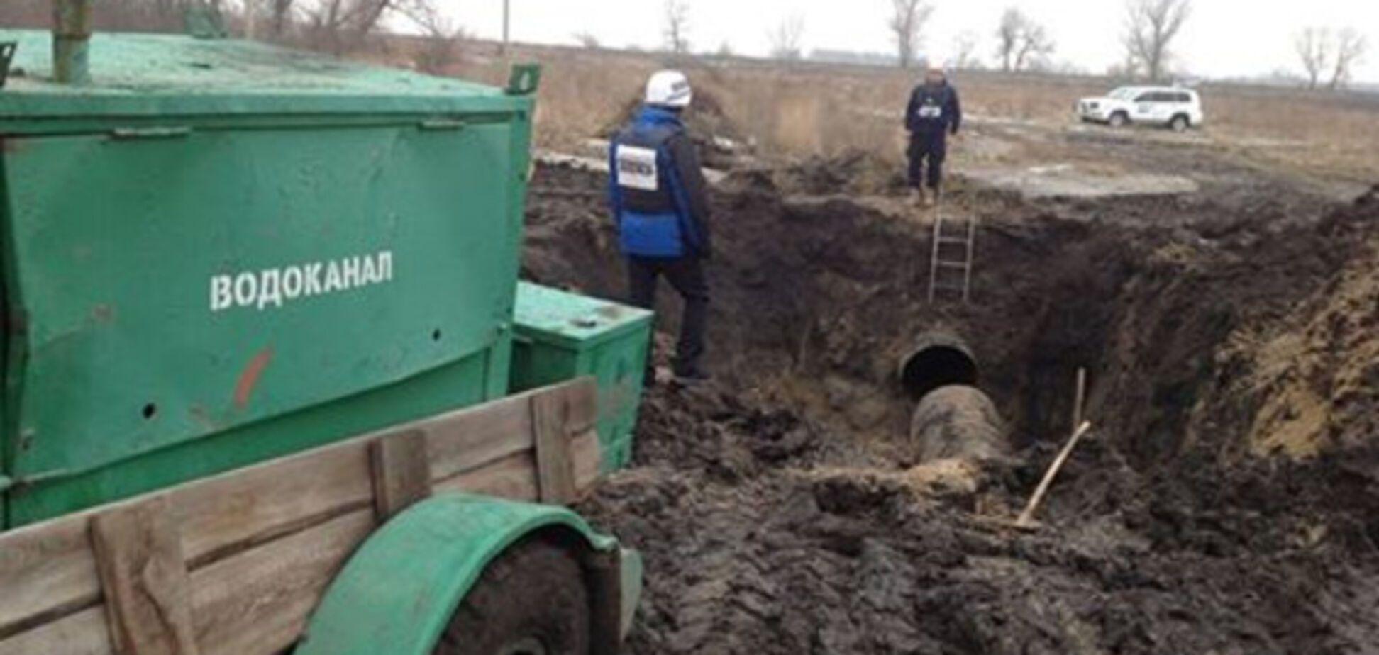 Прорыв трубопровода под Луганском