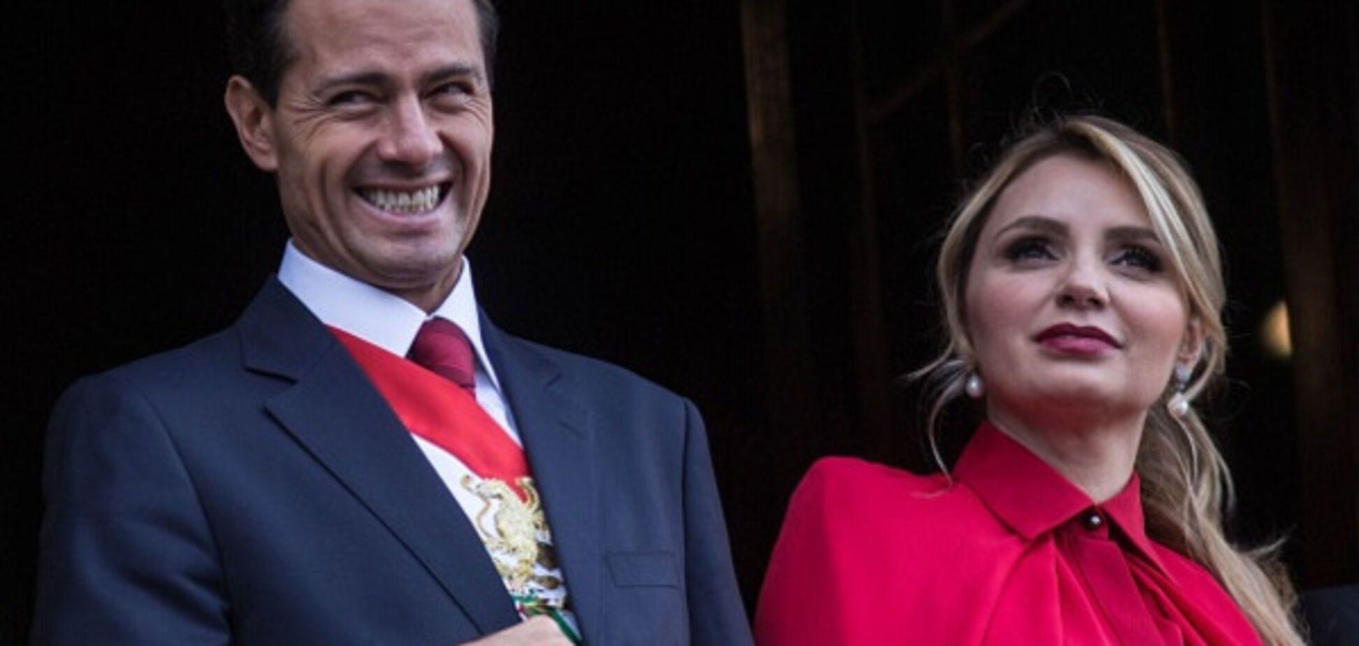 Энрике Пенья Ньето с супругой