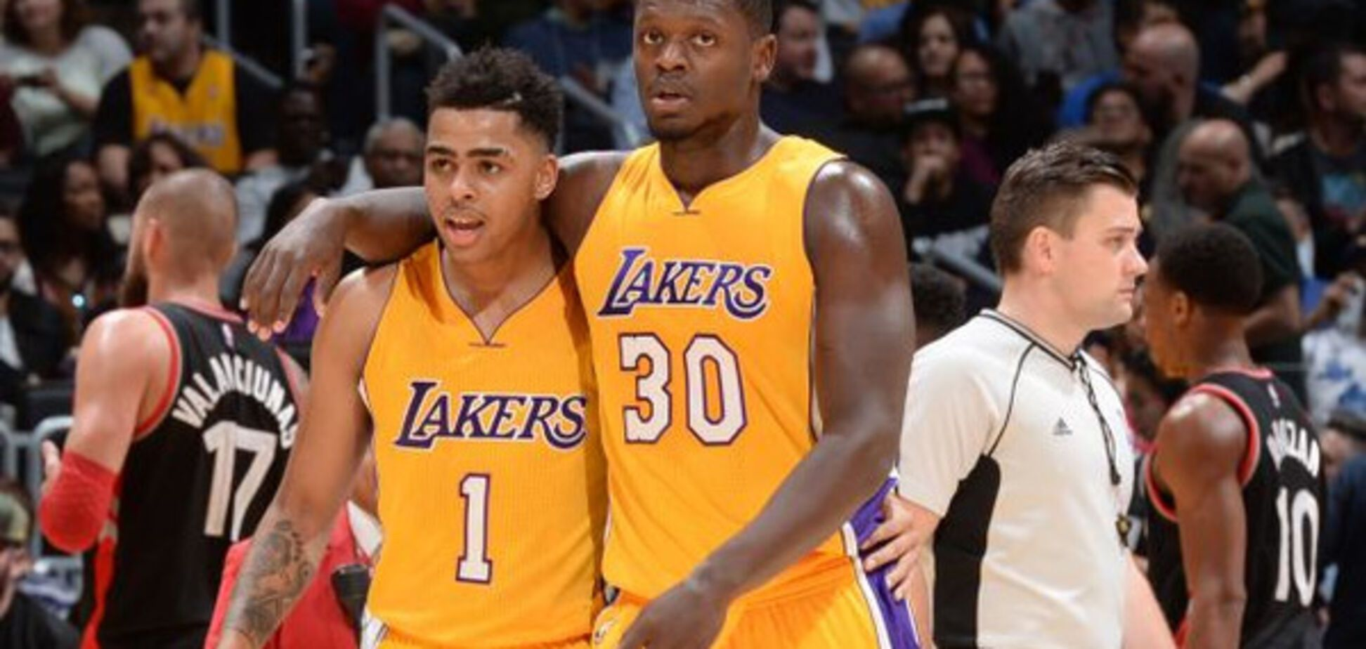 Julius Randle and D\u0027Angelo Russell