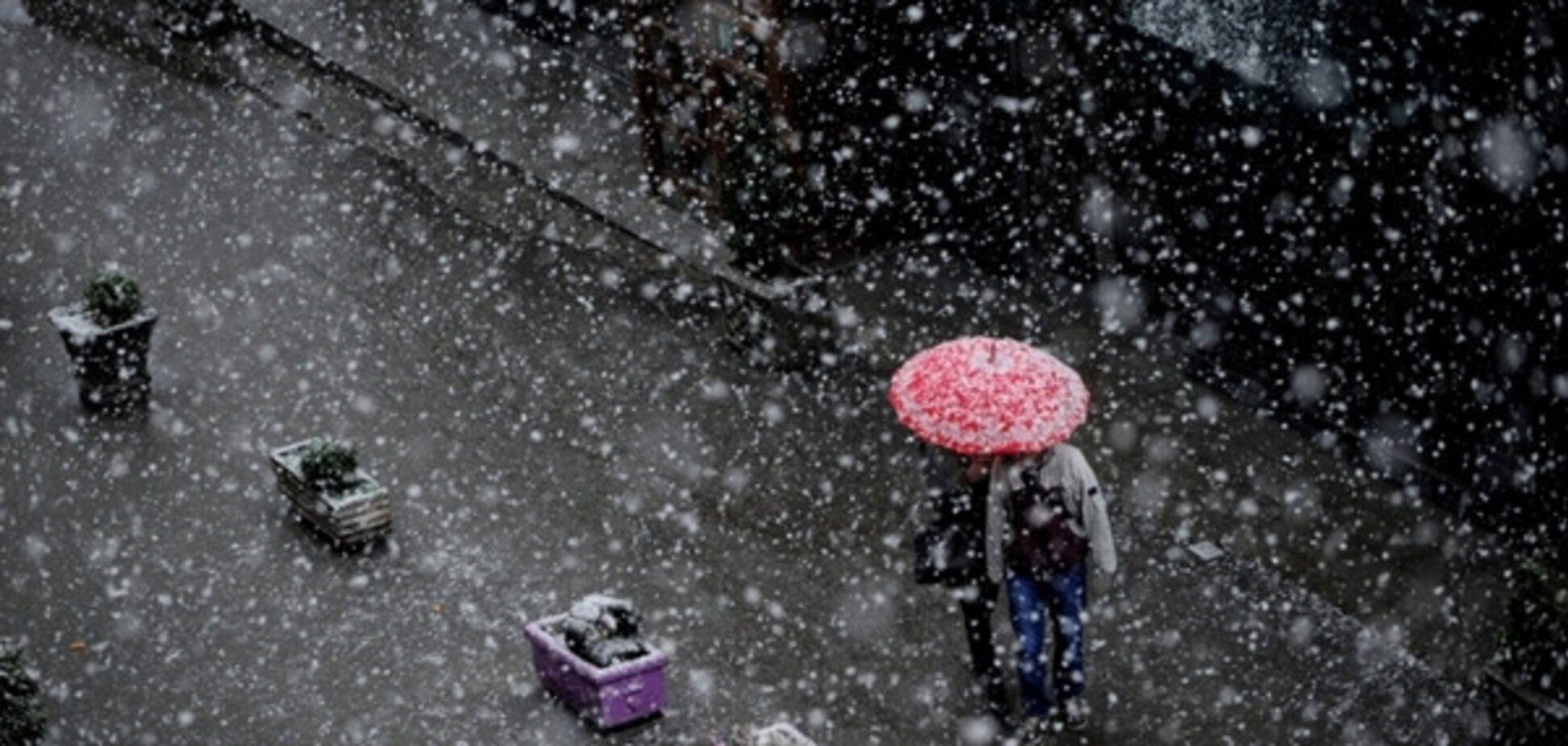 Погода в Украине мокрый снег