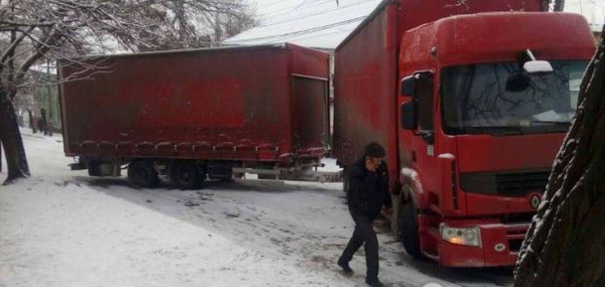 В Запорожской области 'сложилась' белорусская фура