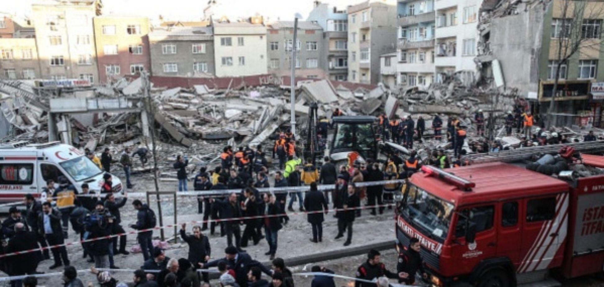 обрушение здания Стамбул