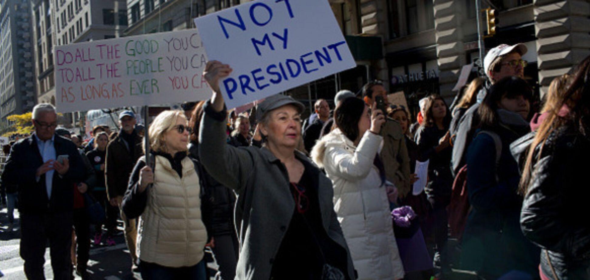 трамп выборы протест