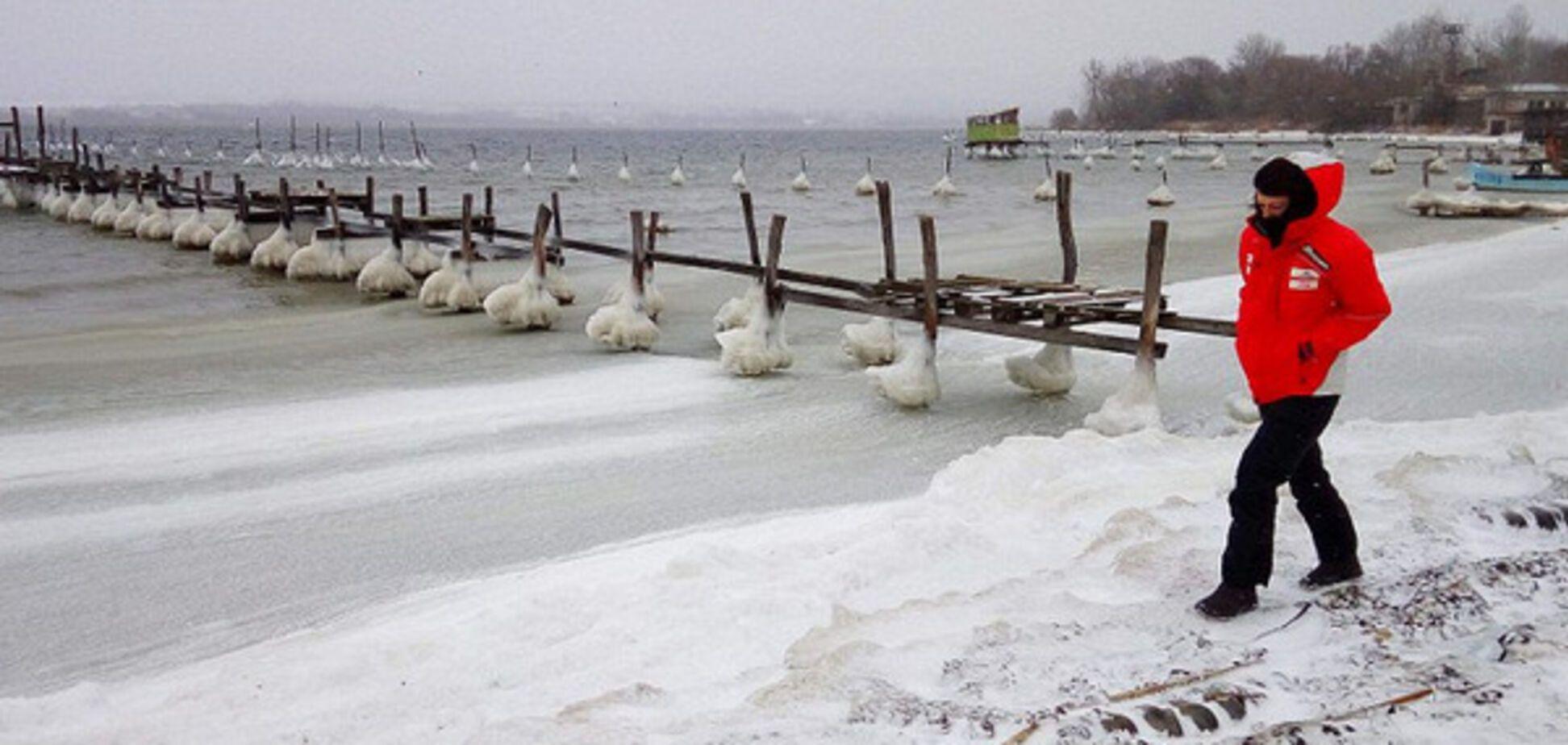 В Болгарии замерзло Черное море