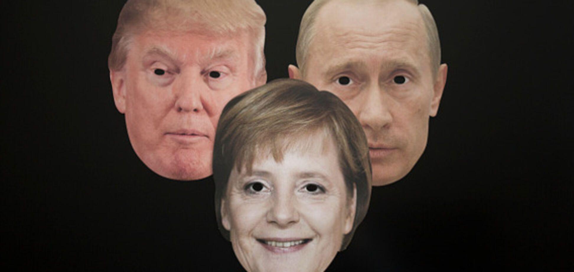 Трамп Путин Меркель